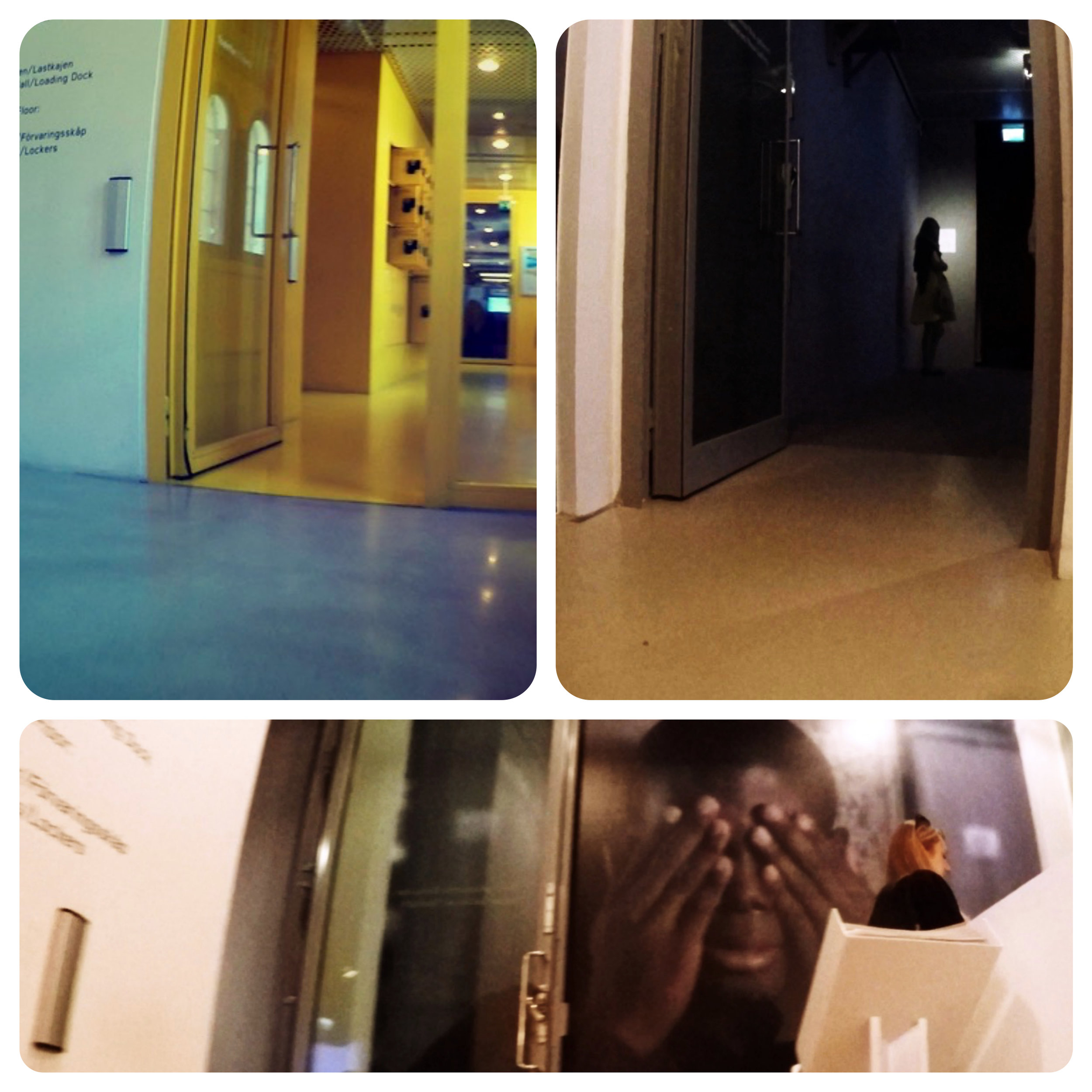 Interior, automatic doors, elevator and wheelchair-friendly toilets and lockers.