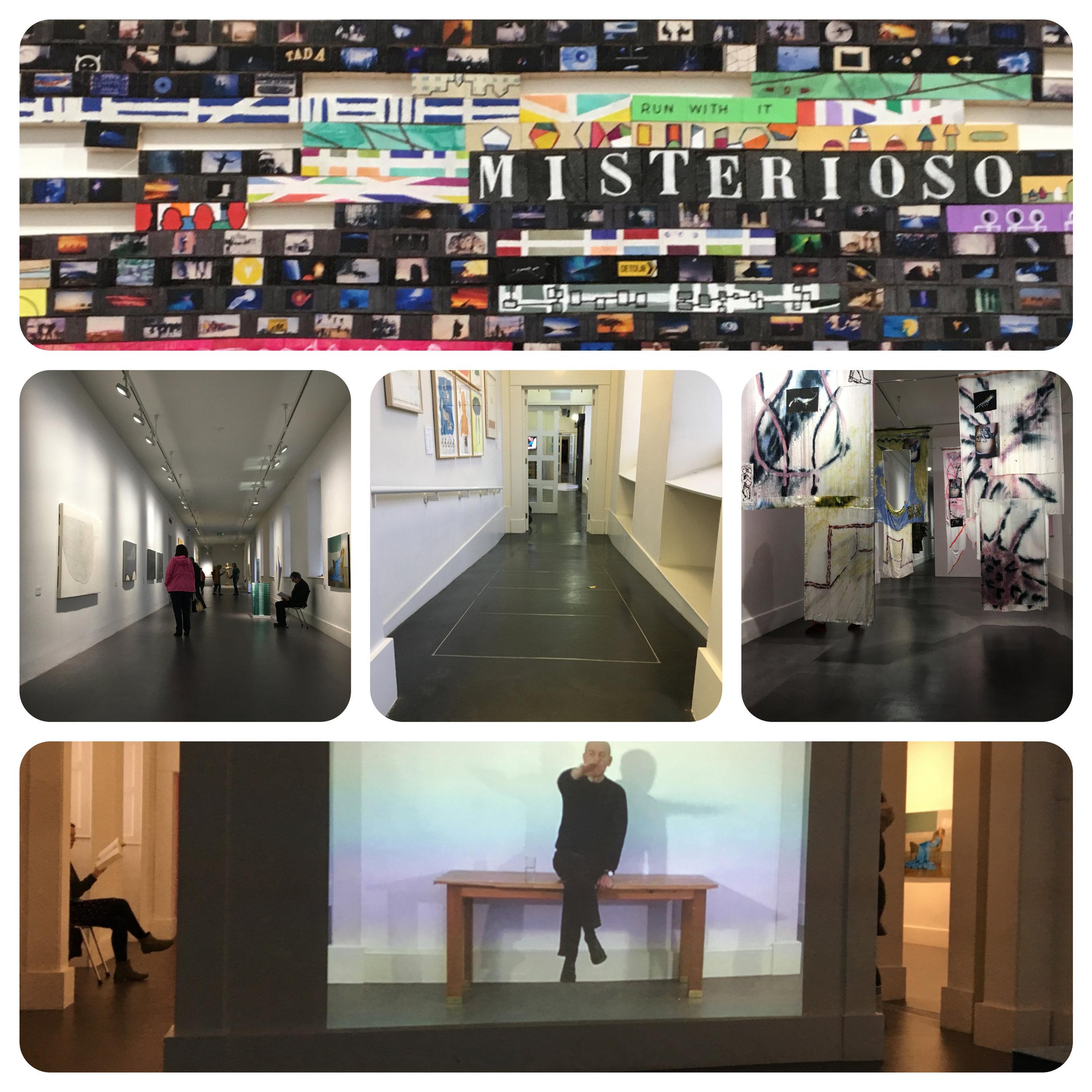 Corridor and Exhibition halls.