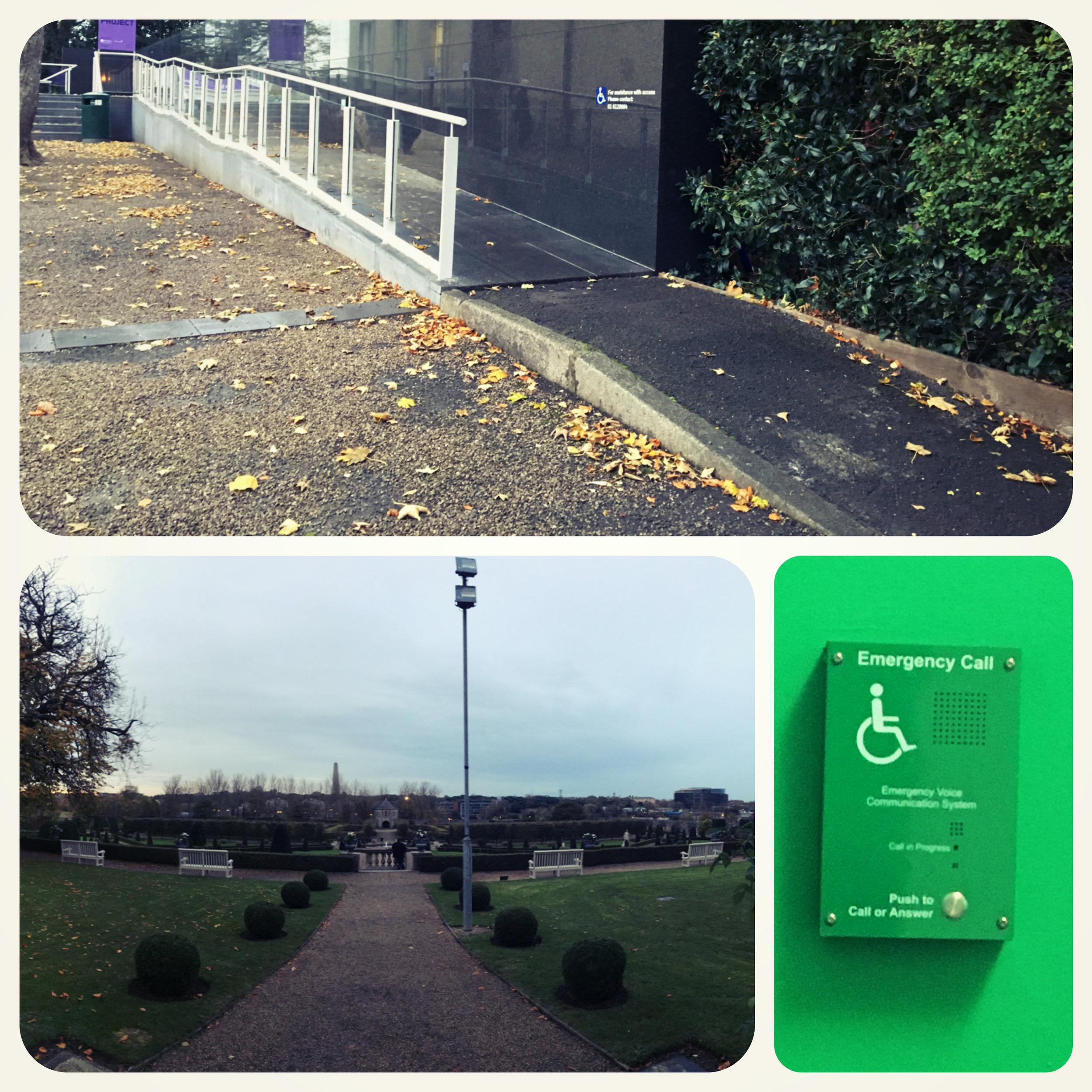 Side wheelchair-friendly ramp and garden.