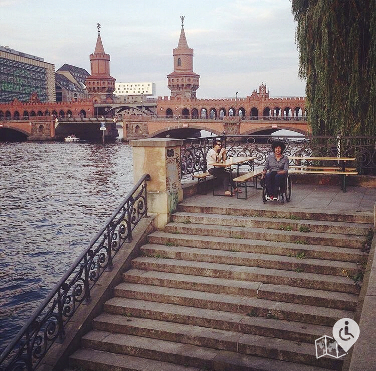 Yes you may find some steps here and there, but you can still make it work around Berlin in a manual wheelchair.