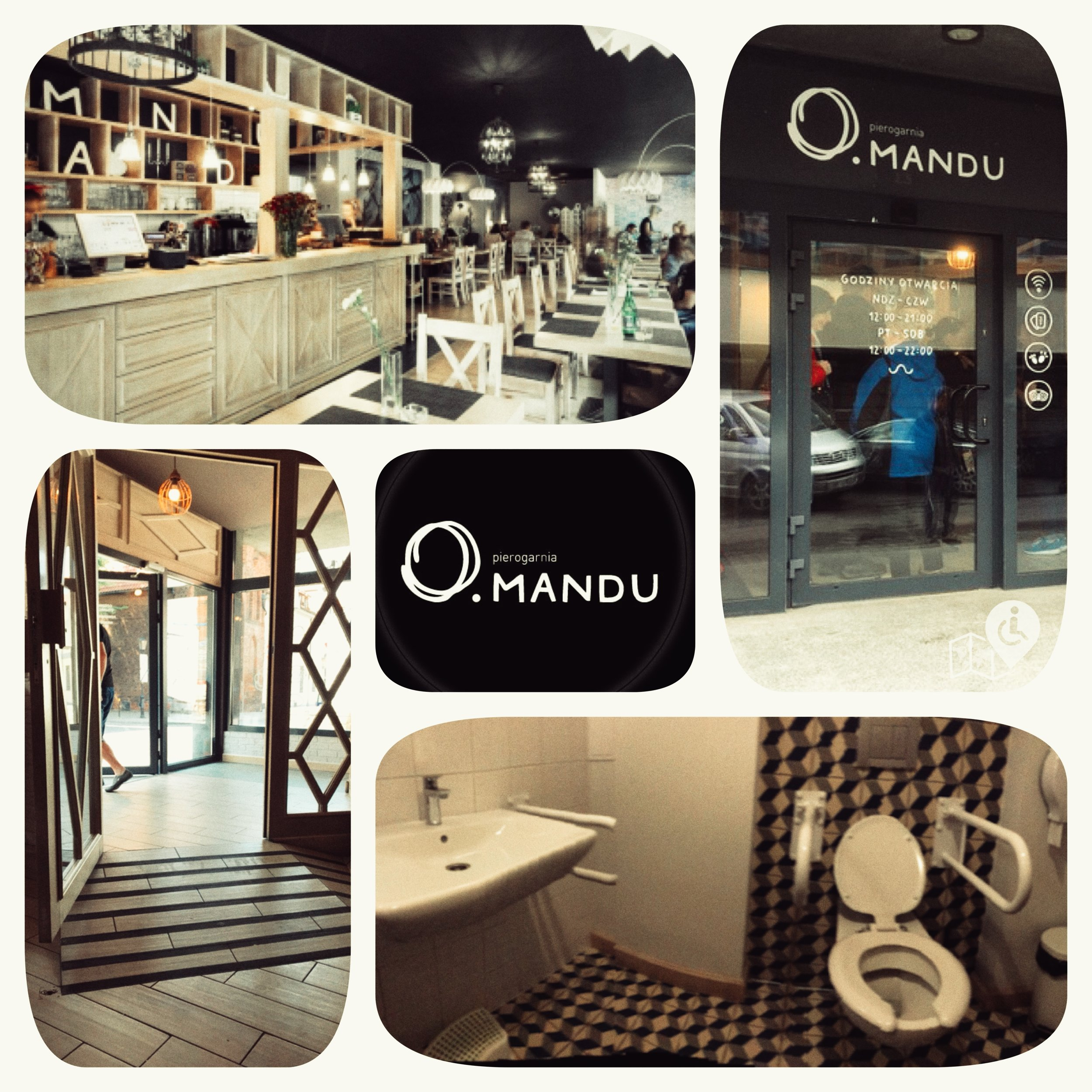 Mandu is a fully-accessible restaurant who serves traditional polish food. Yummy