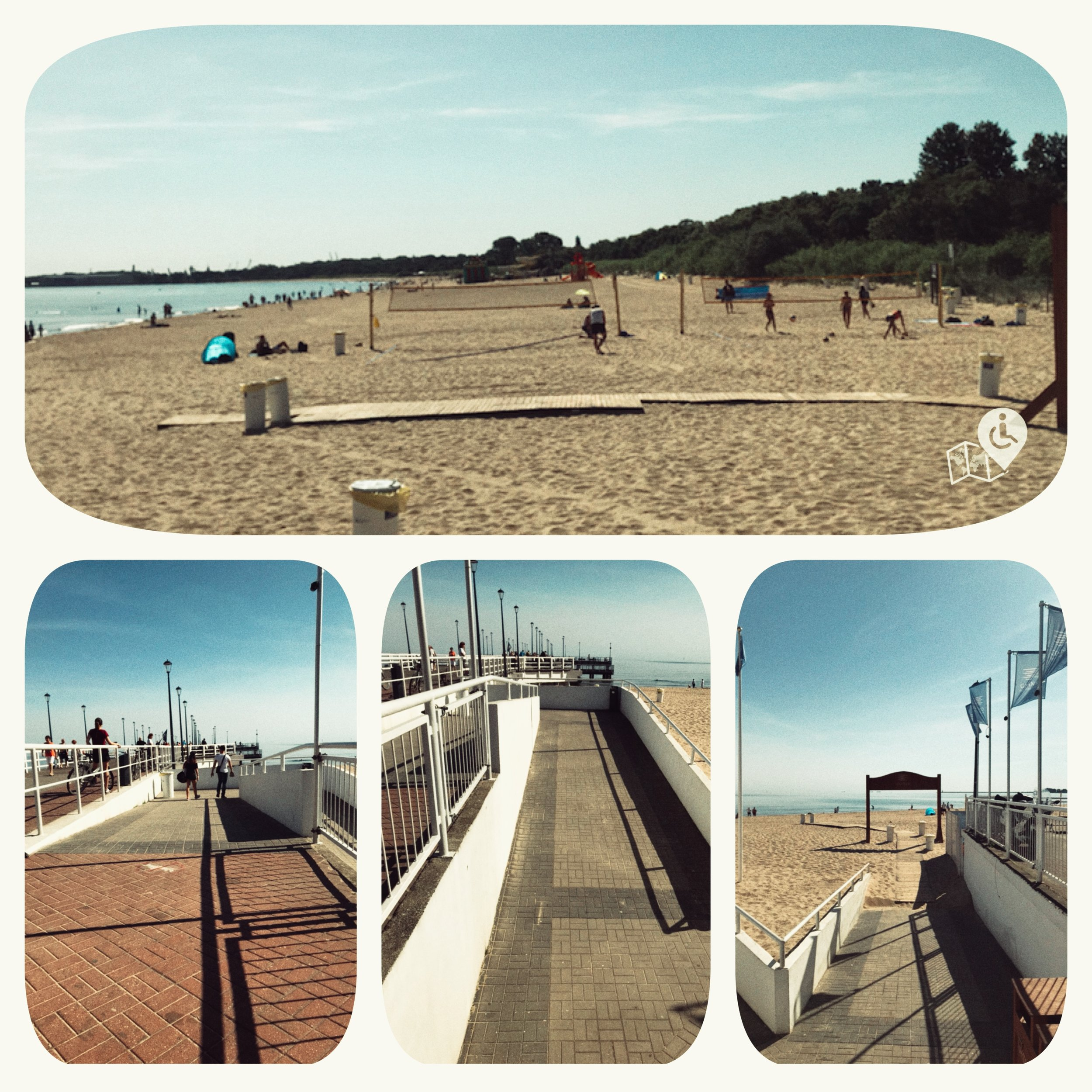 Brzezno Beach is fully accessible.