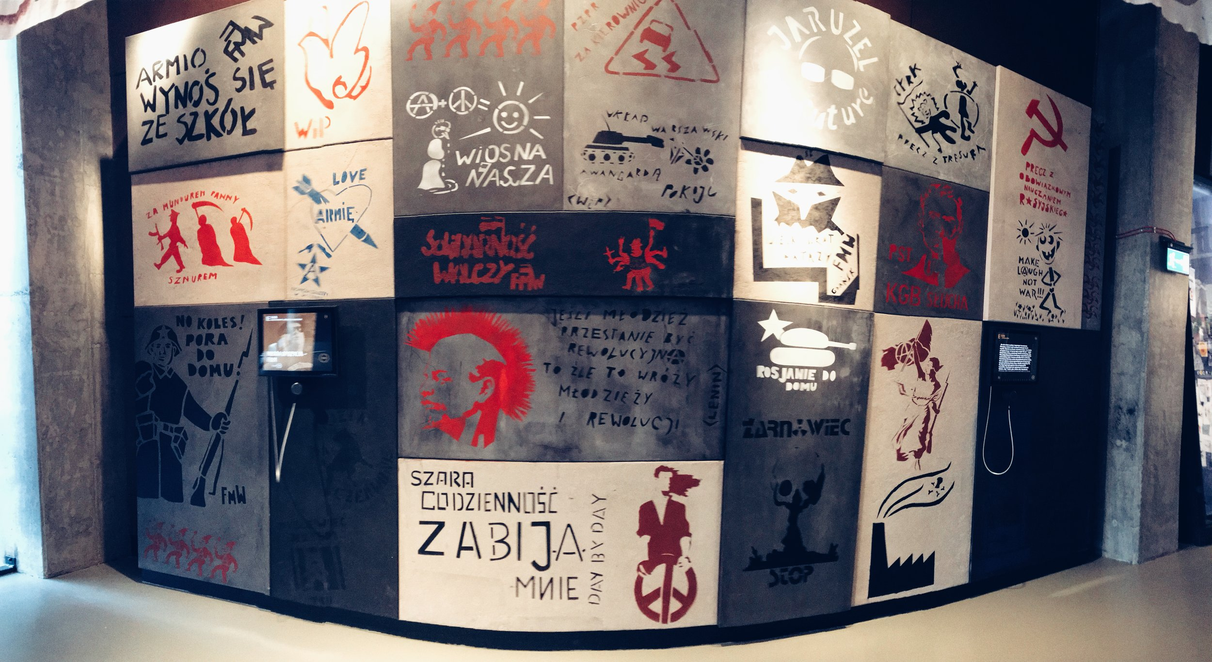 European Solidarity Centre' displays.     Up yours, Karl Marx!