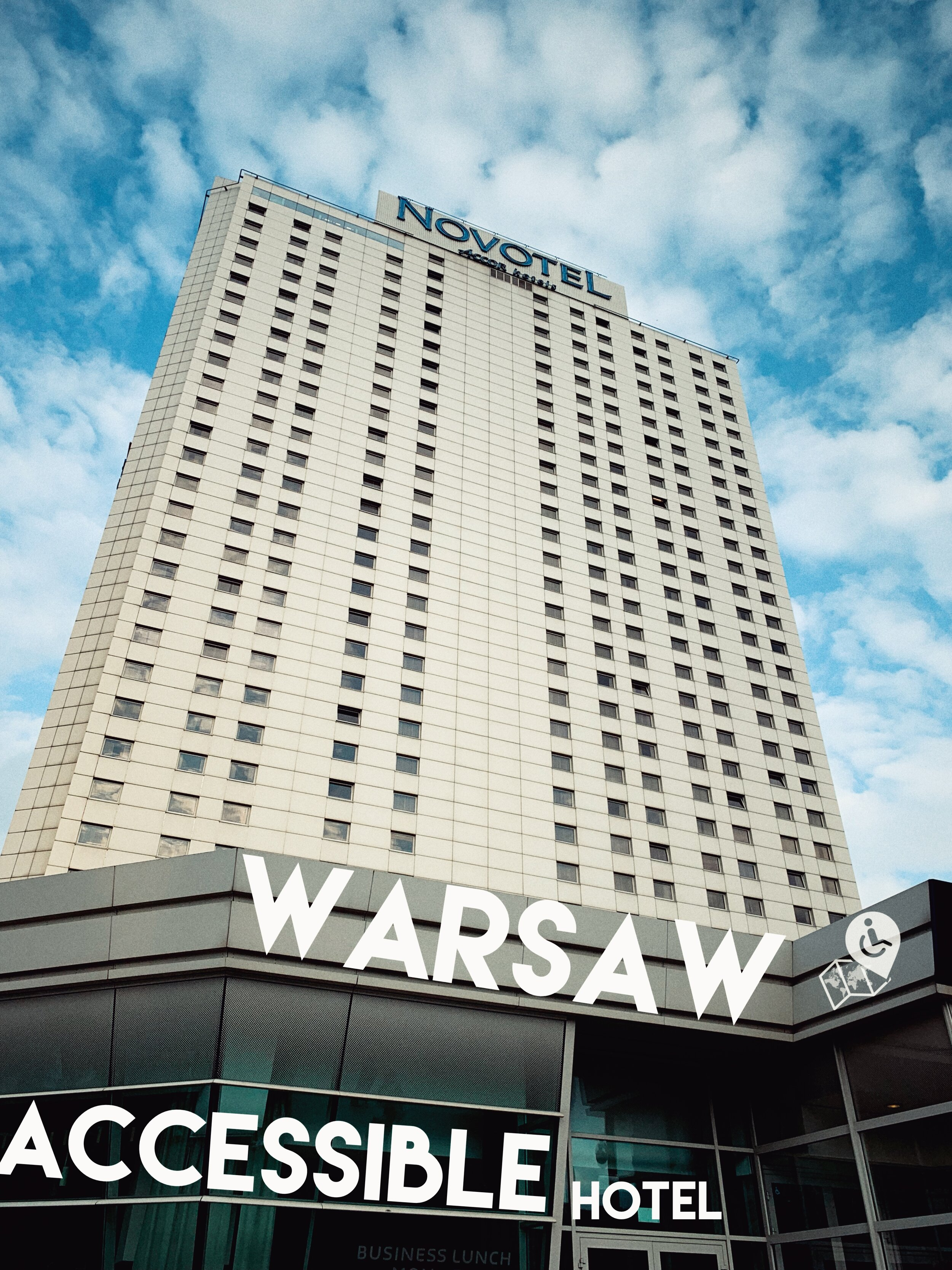 Novotel Warszawa Centrum   has a great location and it is fully wheelchair friendly, Click on the picture for a full review.