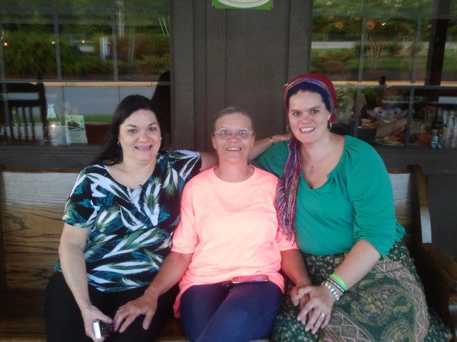 From right to left: Diana, Gail Ellen, and Gail Ellen's sister.
