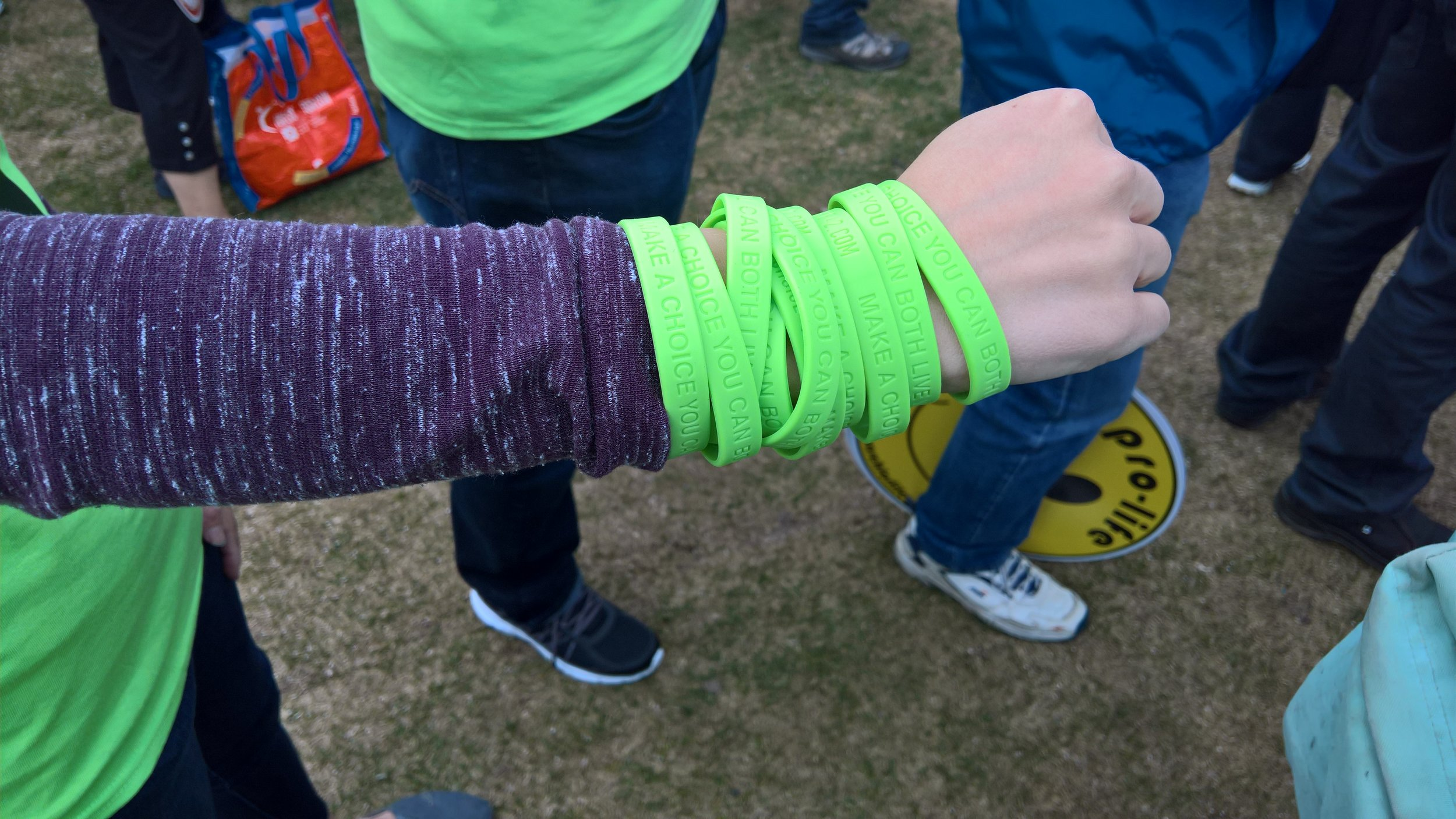 Our free CHOICE42 bracelets were gone in a flash!