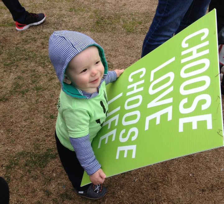Our super cute sign model!