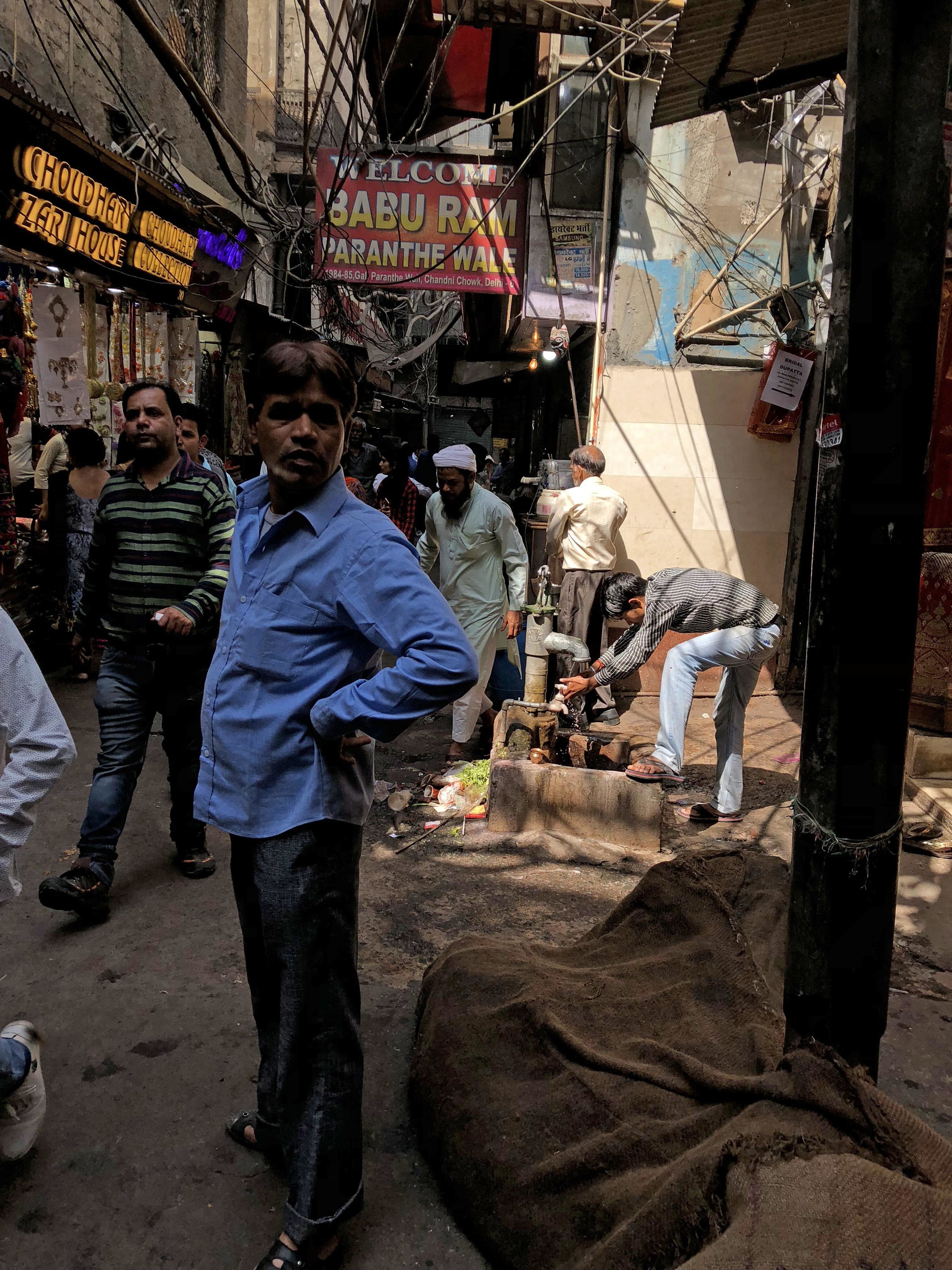 The hustle and bustle of Chandni Chowk in Old Delhi