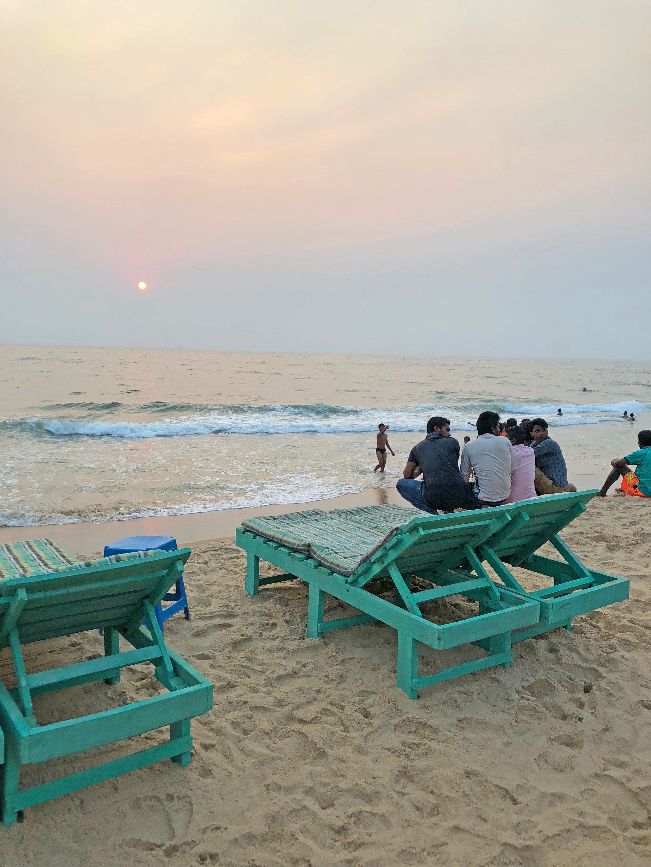 Boys on the beach in Goa