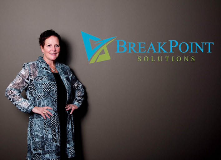 Lori Noyes: RN, MA   Lori is a partner at BreakPoint Solutions; she is an experienced healthcare leader with an MA in Leadership and Change Management. Her LEAN certification provides her the tools and methodology to be proficient in facilitating and leading process improvement events.