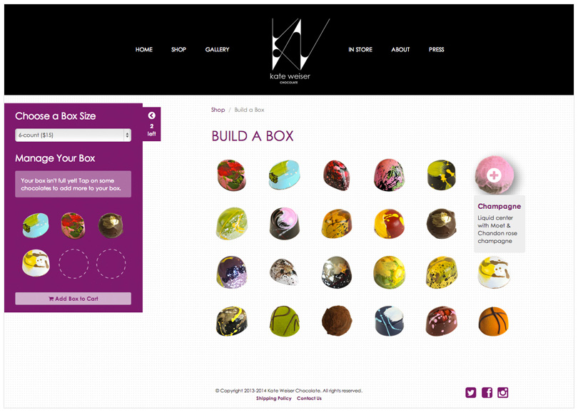 Website : Build a Box Feature