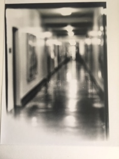 Hospital corridor as it was in the 1950s