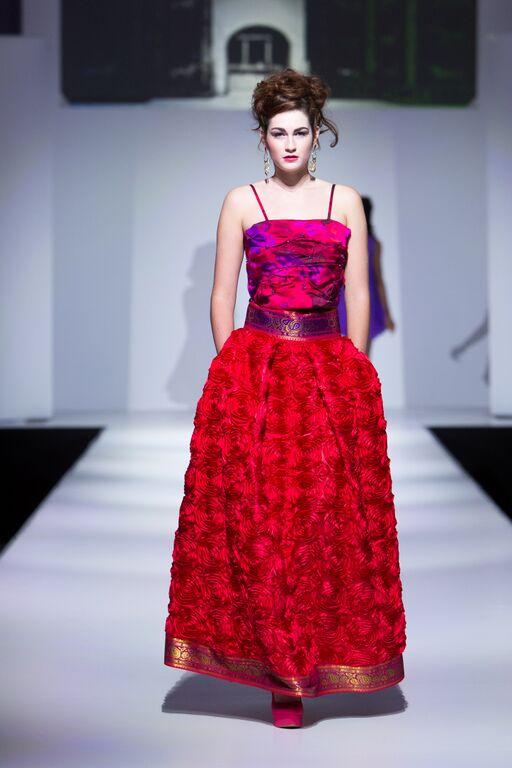 Designer: Fella Vaughn  Model: Develop Model Management  Stylist: Rosy Beauty Salon