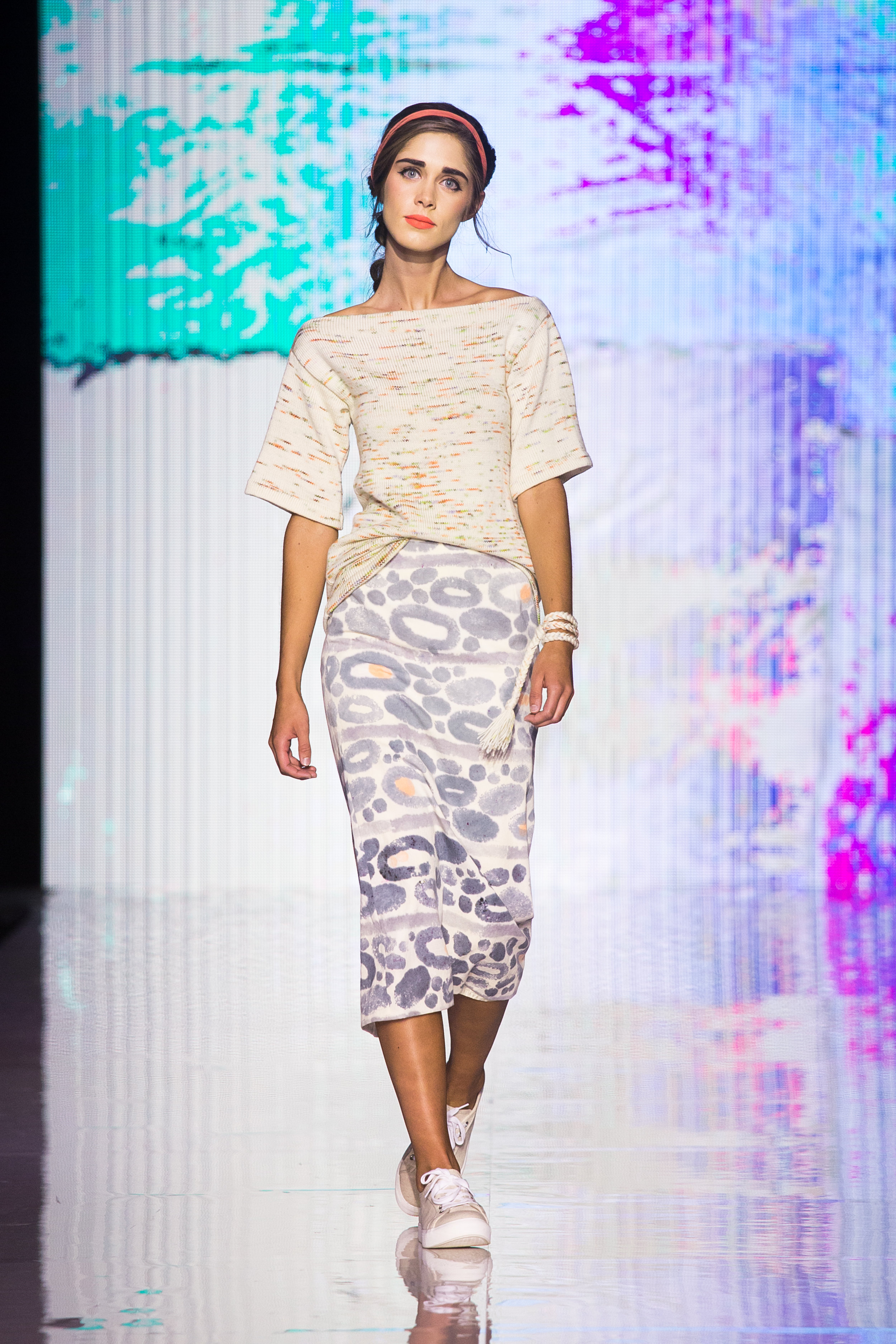 A look from Jane Round's SS17 show at Omaha Fashion Week