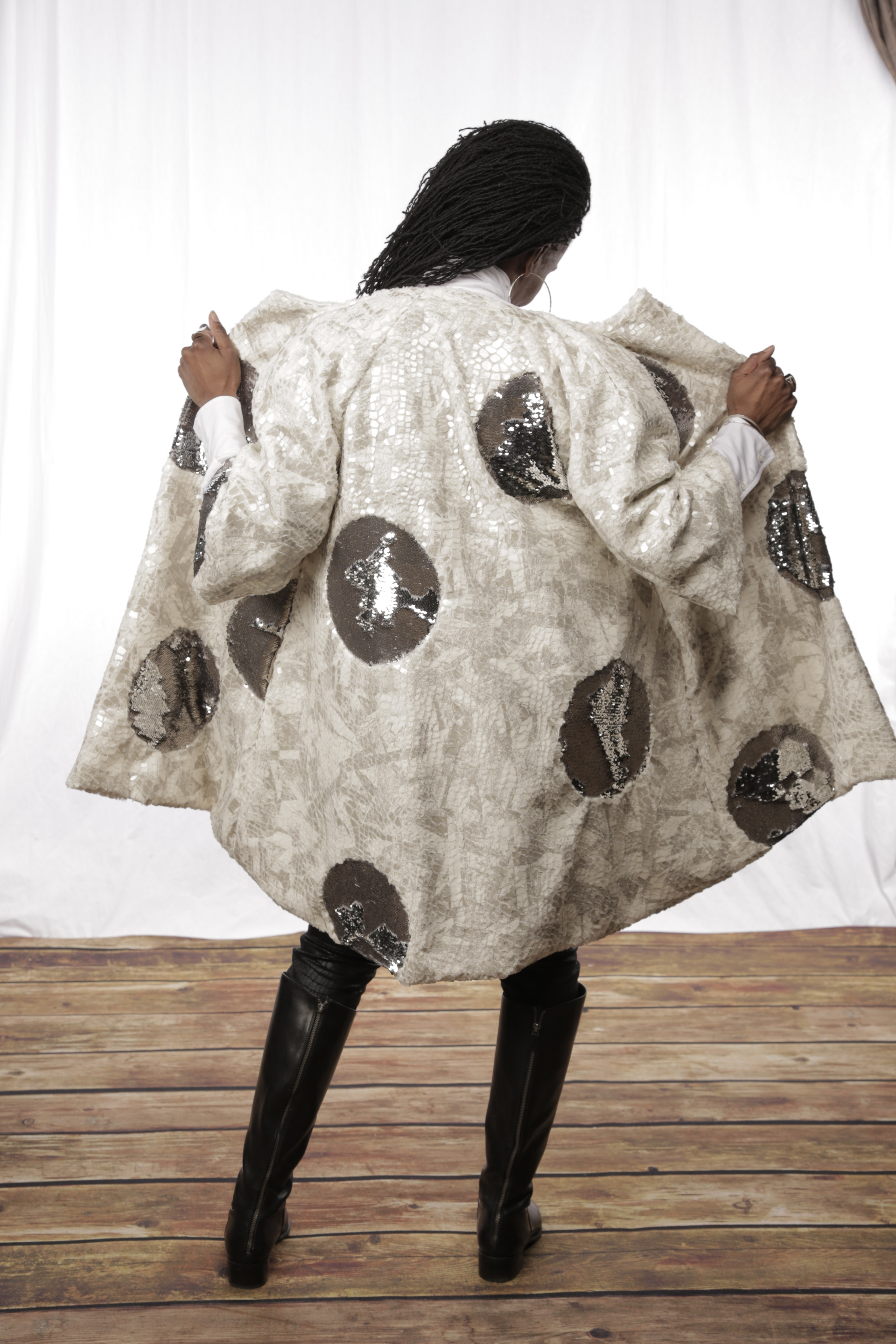 A version of the Re'ChaunStyles Signature Orb Jacket, photo by Jim O'Keefe