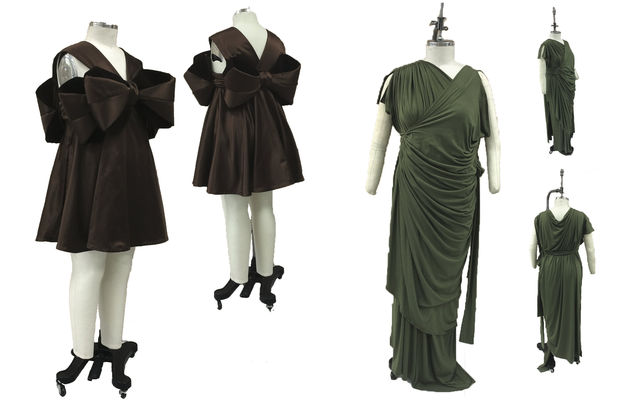 Past garments from Zaftig Kitty, at right is an example of a zero waste garment!