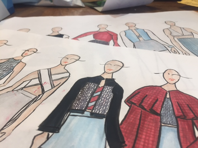 Sketches of the SS18 collection