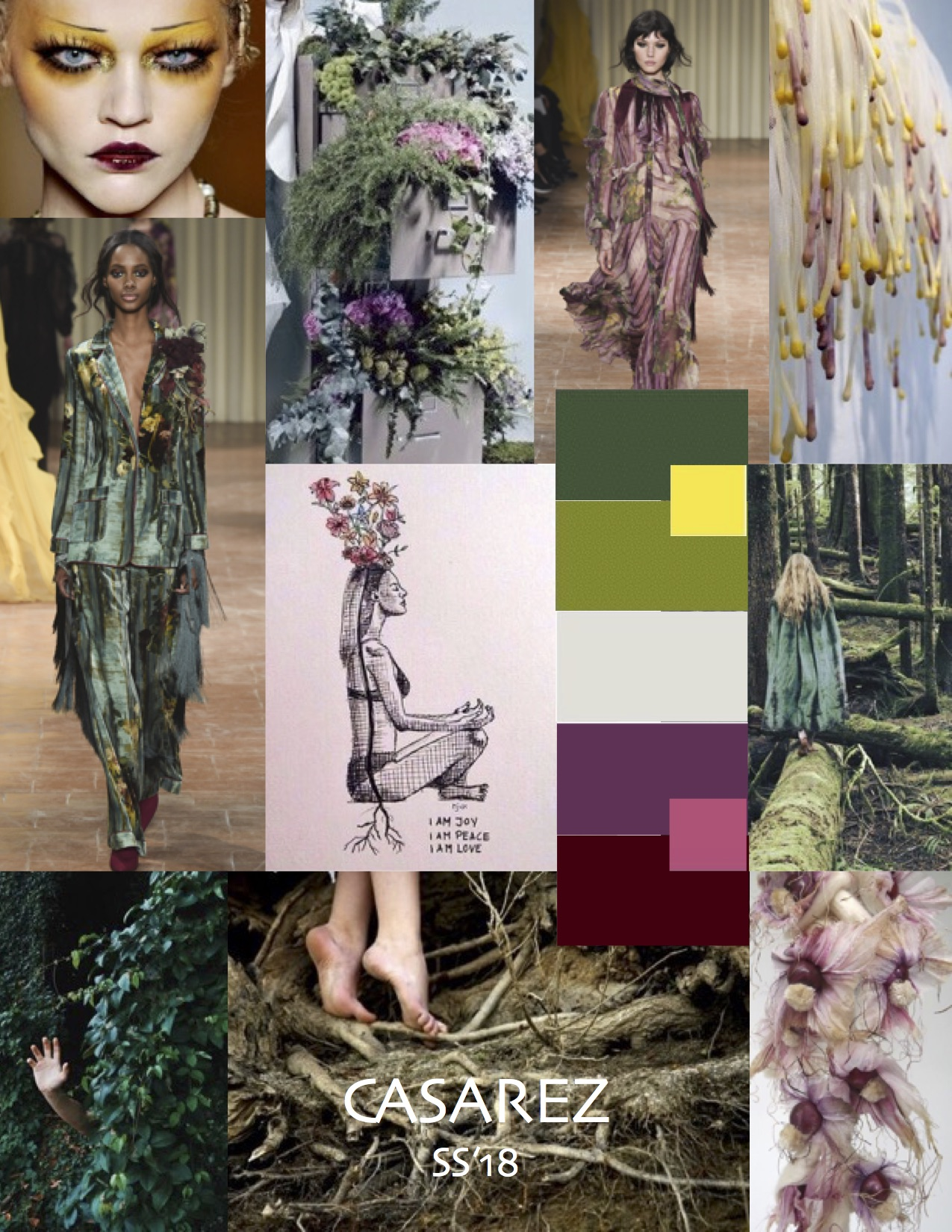 Mood board for the SS18 collection