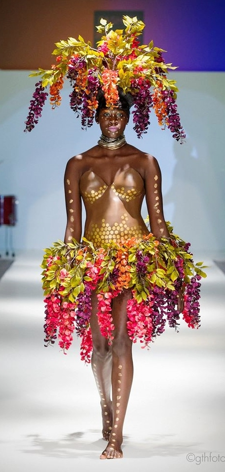 AFRICA - From designer's last OFW show, featuring a plaster cast torso.