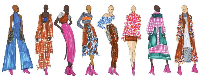 Designer's sketches.