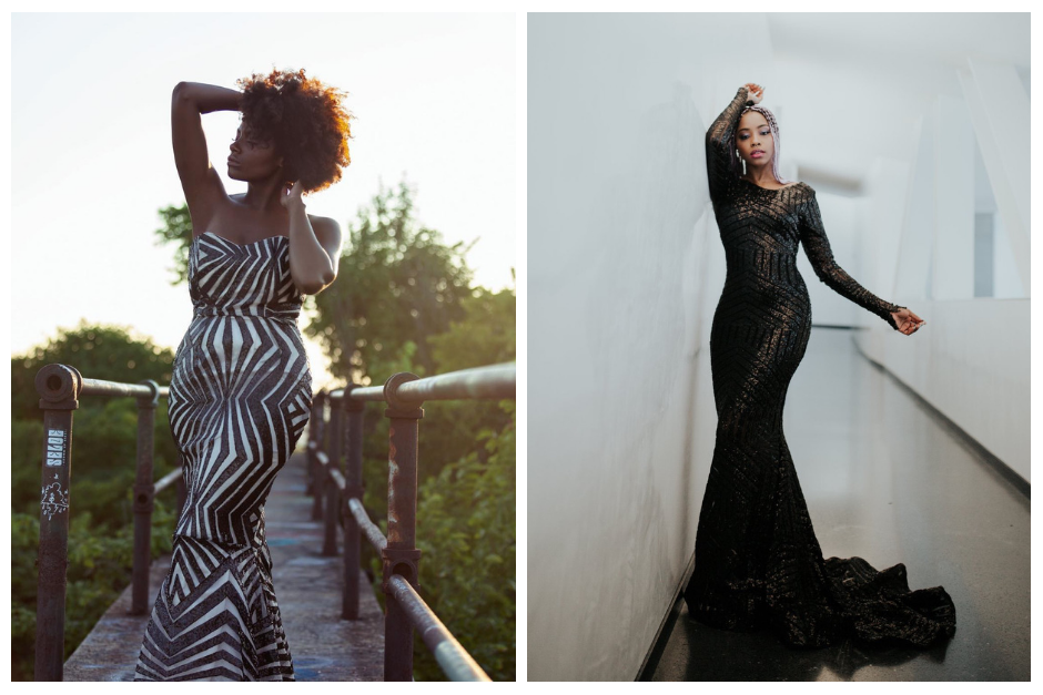LEFT: Fall 2018 Gown + RIGHT: Black Panther Fall 2018