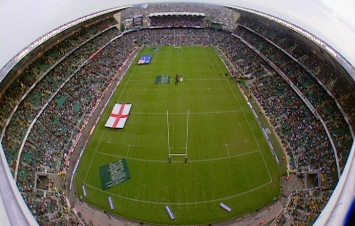 Twickenham Rugby stadium.