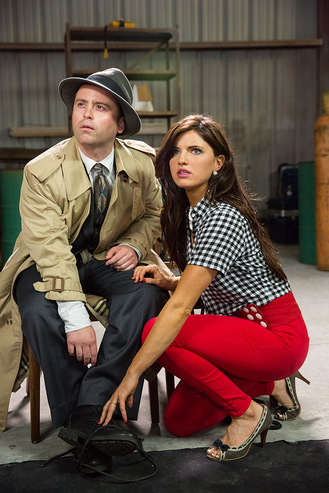 Arnie Pantoja and Rachele Brooke Smith on Help! My Gumshoe's an Idiot! ©2015 Gumshoe Productions, LLC