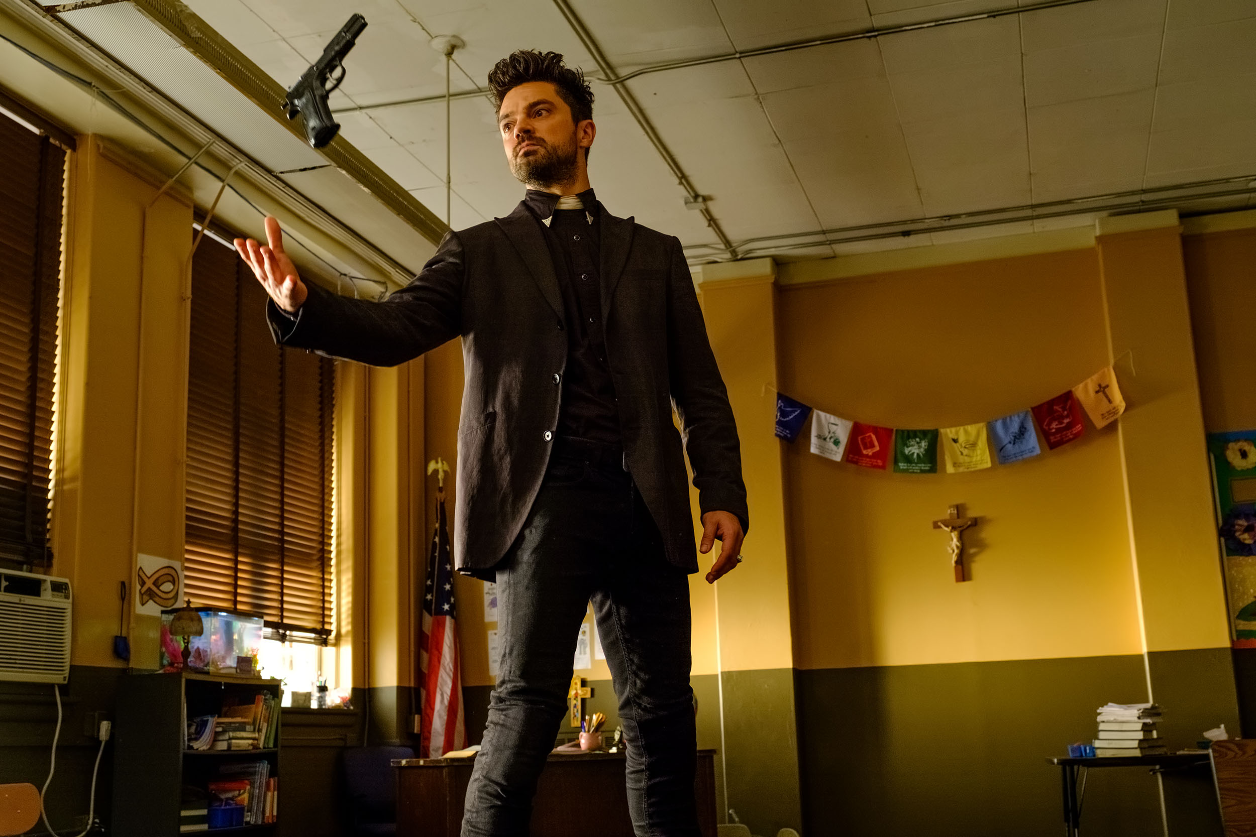 Dominic Cooper as Jesse Custer. Alfonso Bresciani/AMC/Sony Pictures Television
