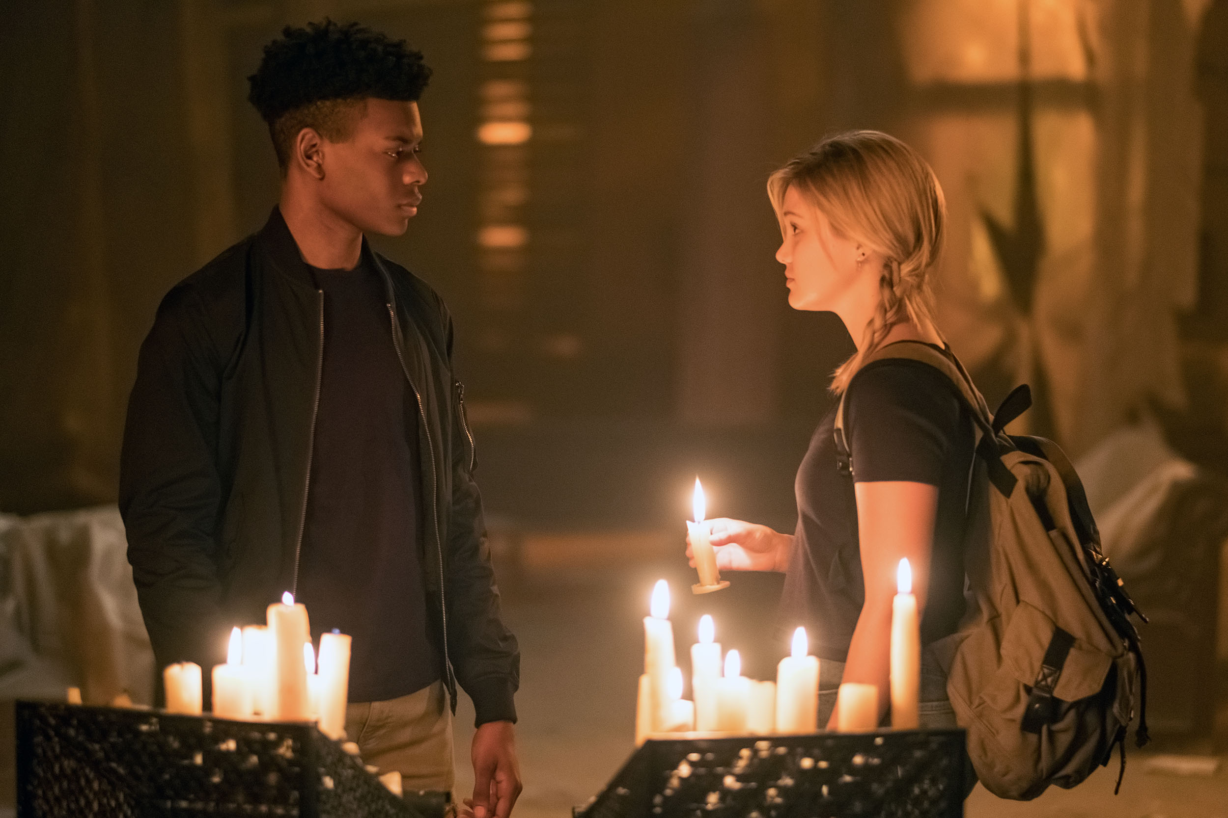 Aubrey Joseph as Tyrone Johnson (Cloak), Olivia Holt as Tandy Bowen (Dagger)  Ph: © Marvel/Alfonso Bresciani