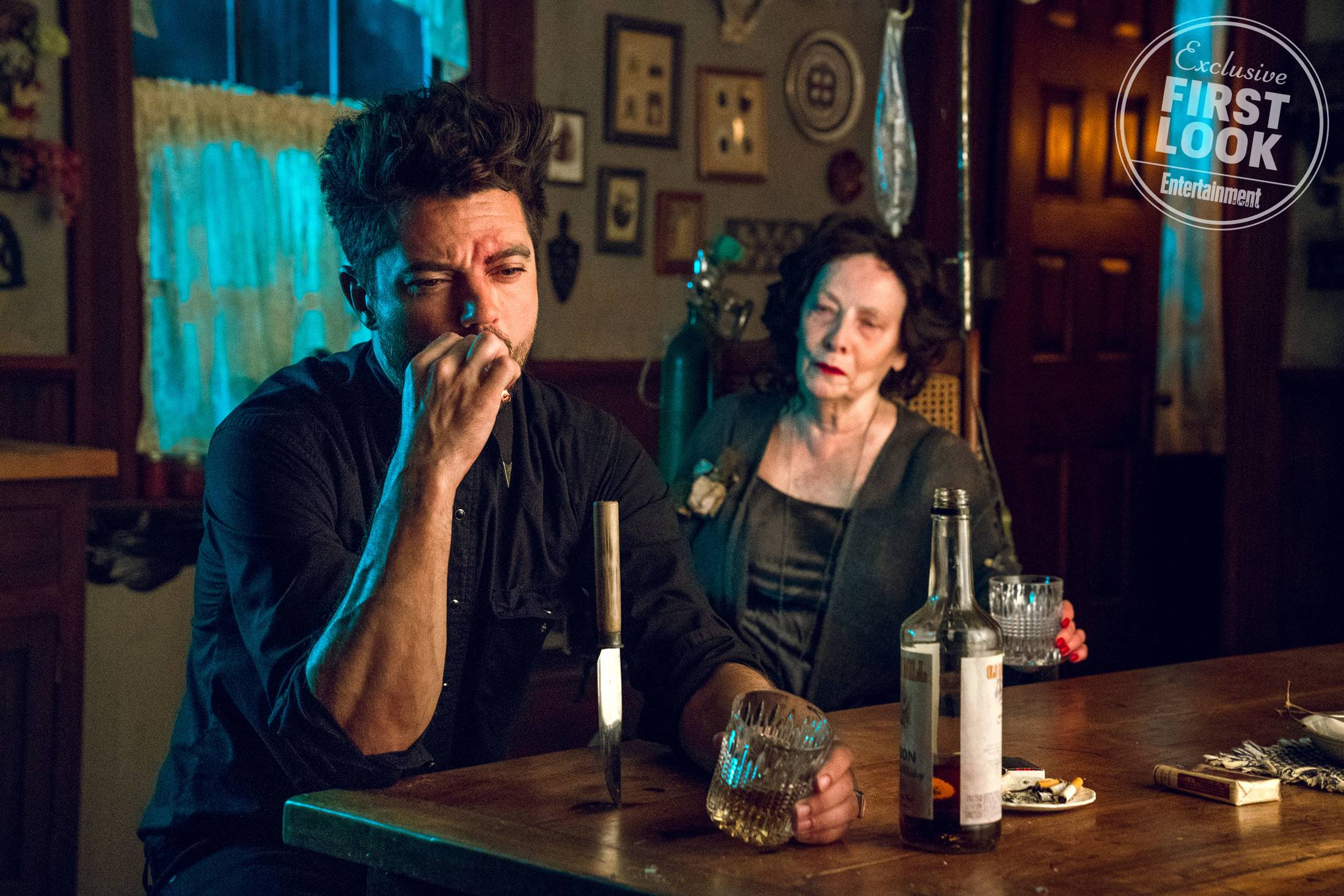 Dominic Cooper as Jesse Custer and Betty Lynn Buckley as  Gran'ma  Photo: Alfonso Bresciani/AMC/Sony Pictures Television