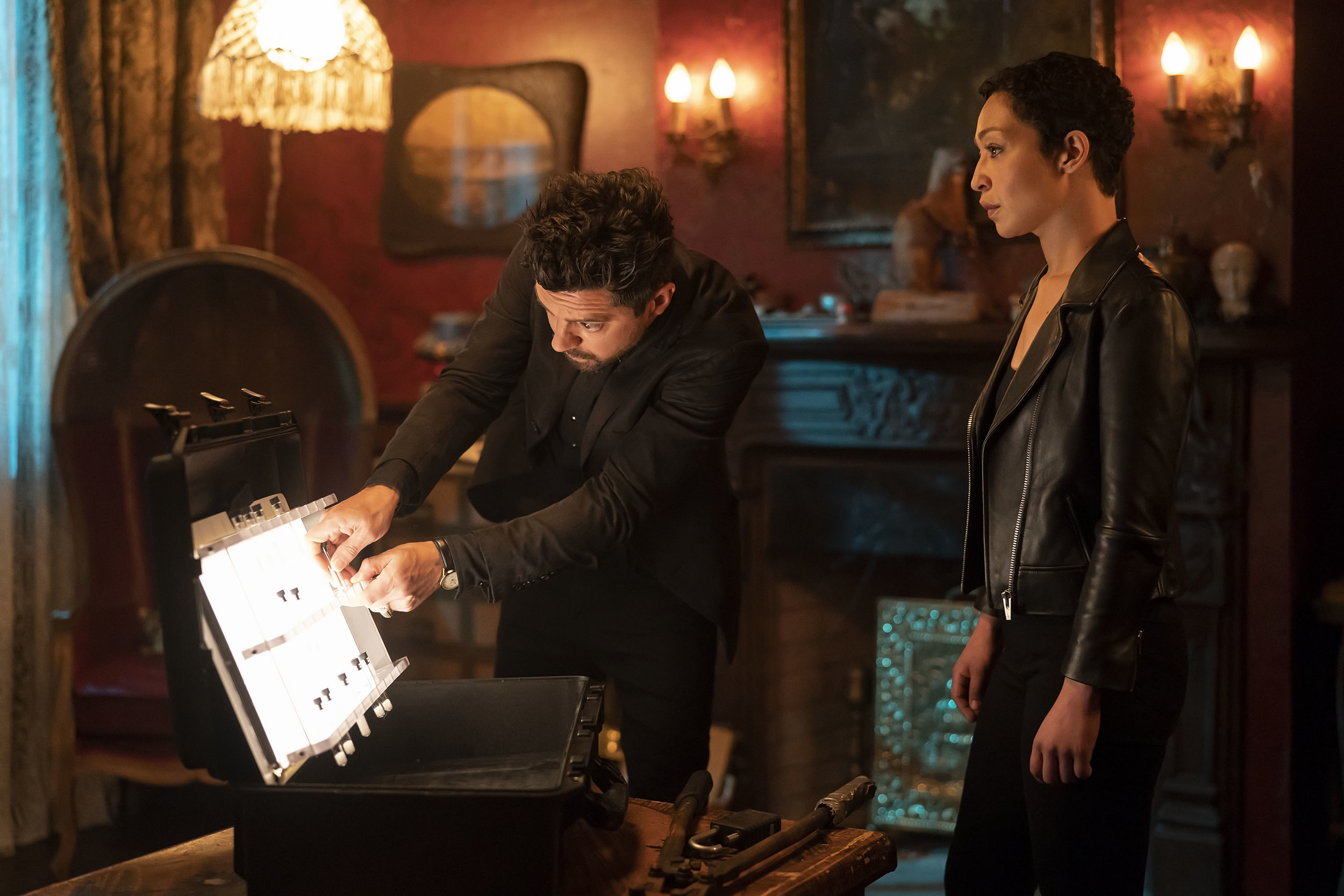 Dominic Cooper as Jesse Custer, Ruth Negga as Tulip O'Hare