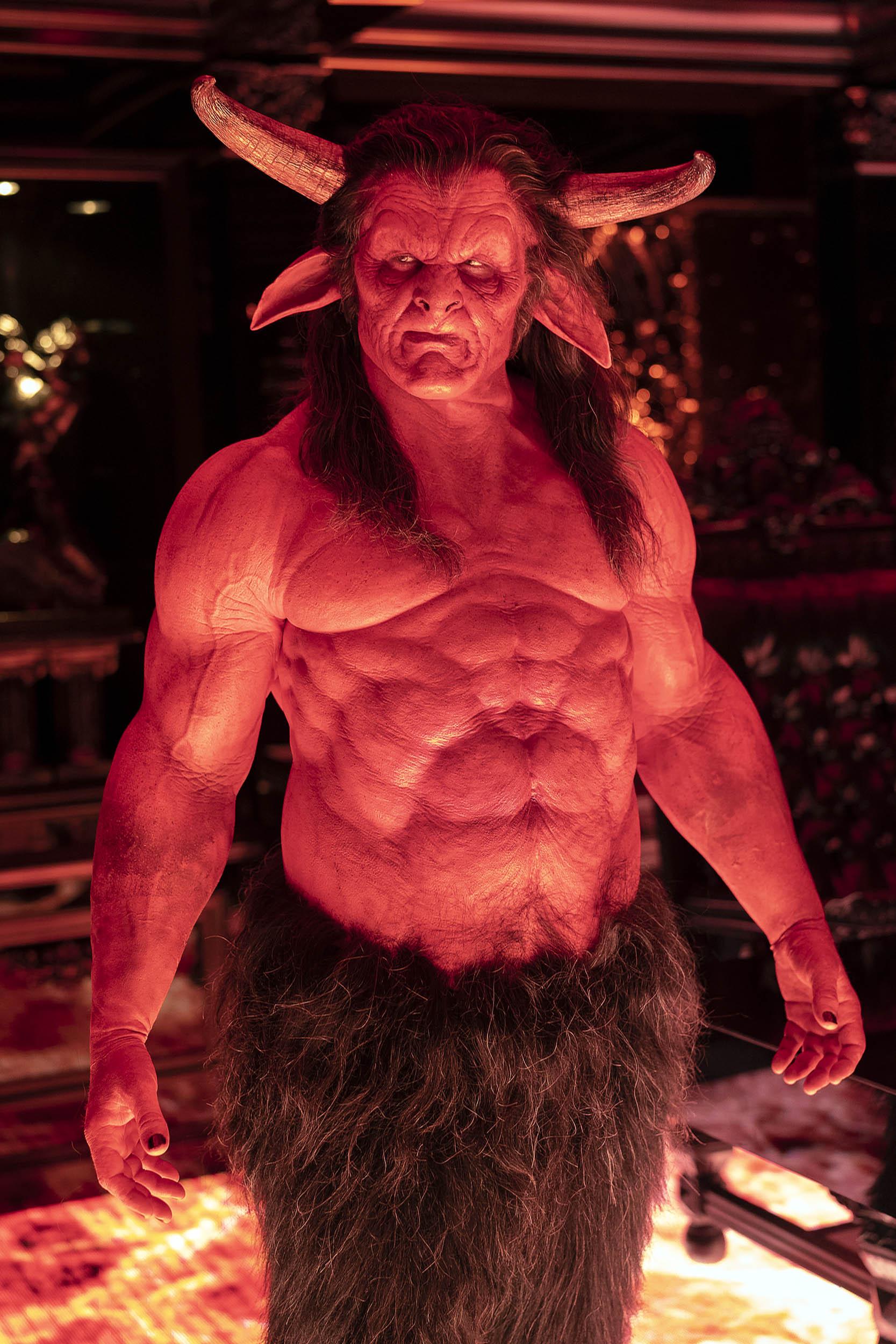 Jason Douglas as Satan.