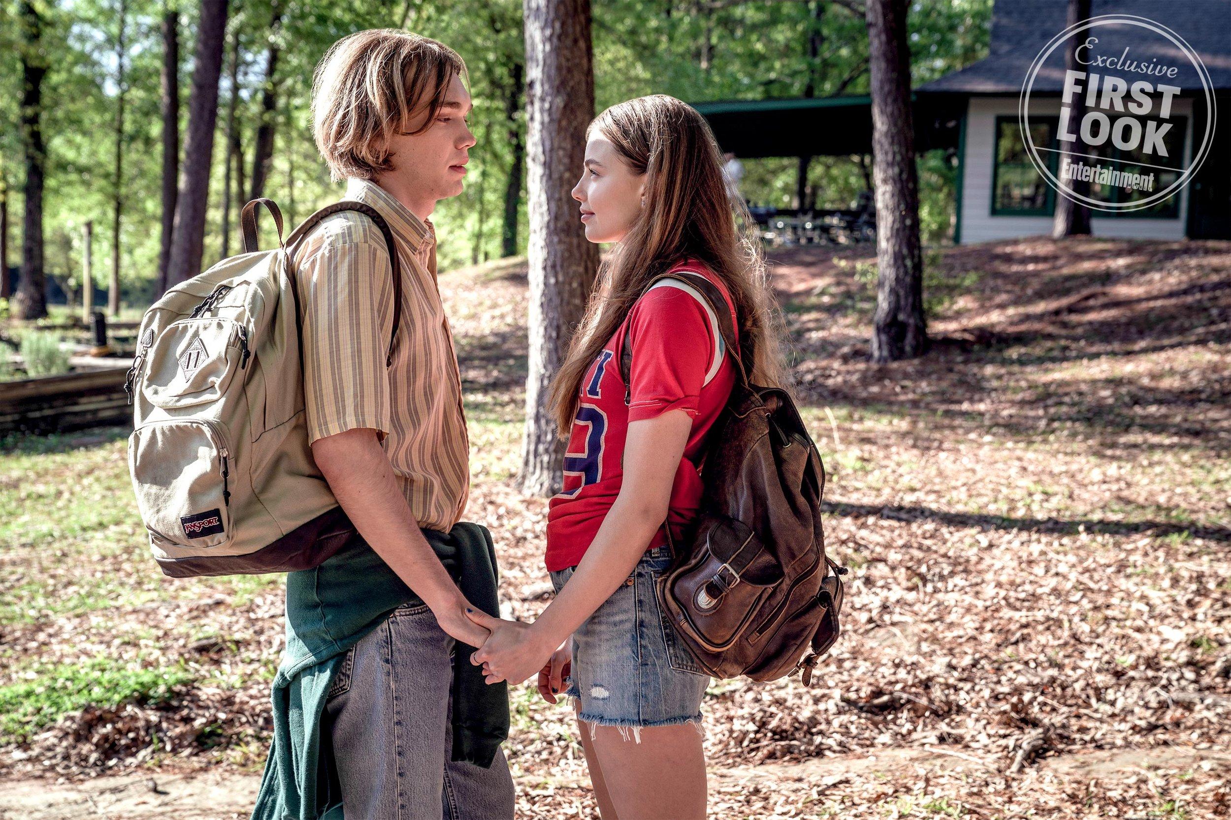 Charlie Plummer as Miles, Kristine Froseth as Alaska.  Alfonso Bresciani/HULU