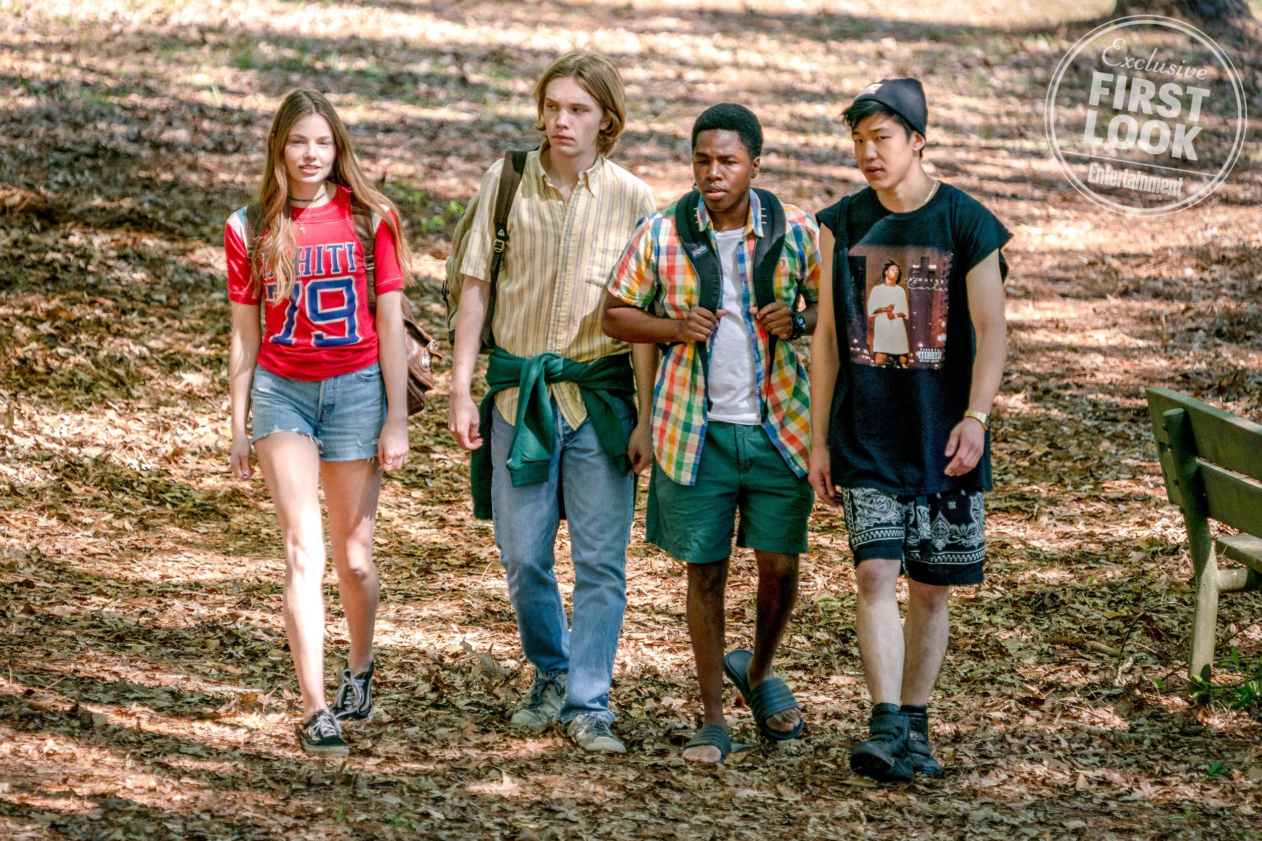 Kristine Froseth as Alaska, Charlie Plummer as Miles, Denny Love as The Colonel, Jay Lee as Takumi.  Alfonso Bresciani/HULU