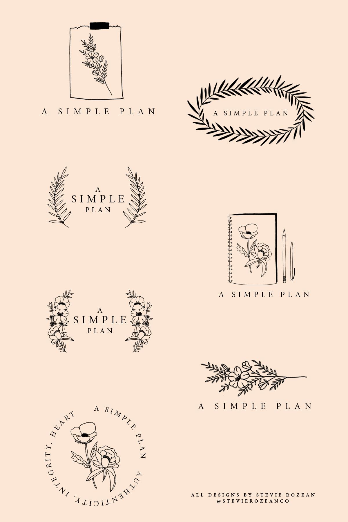 A SIMPLE PLAN. LOGO DRAFTS 2.jpg