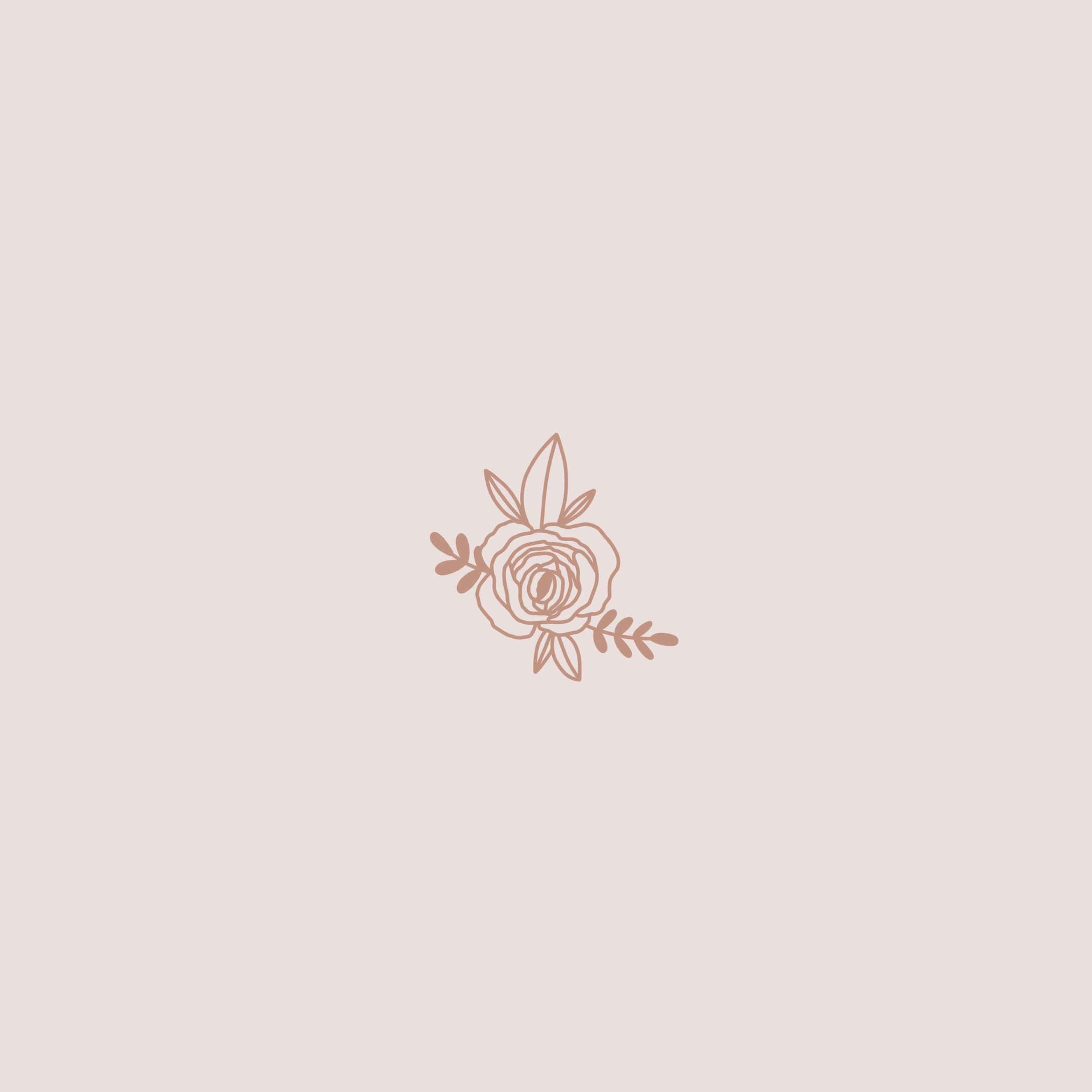 rose illustration. tattoo. logo icon