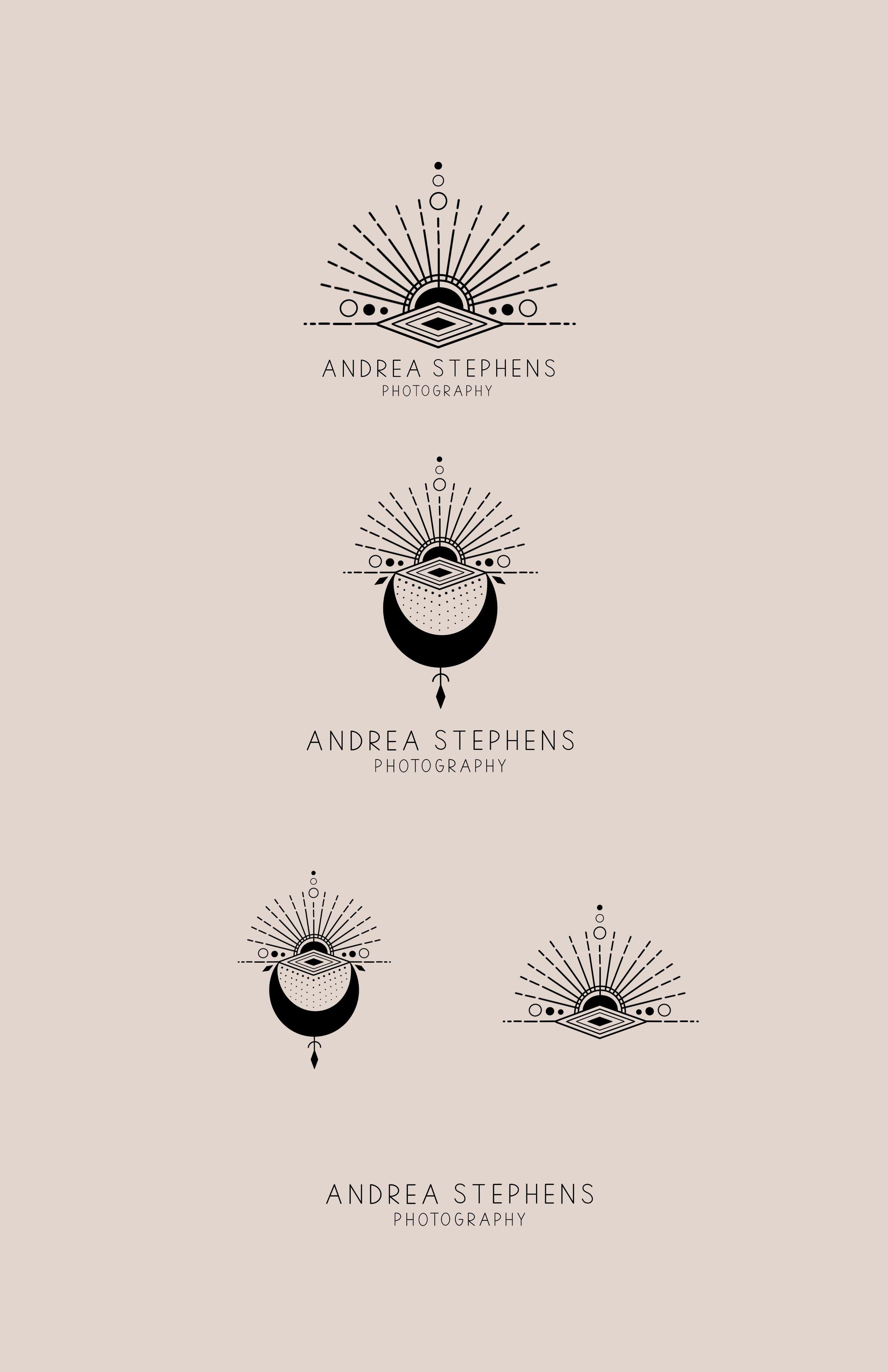 geometric logo sun logo moon logo