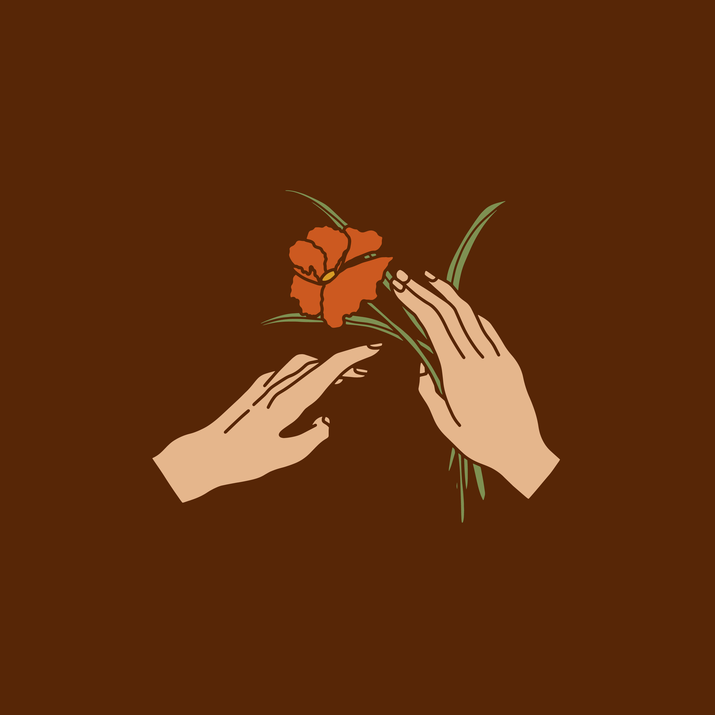 hand and flower logo for elopement photographer