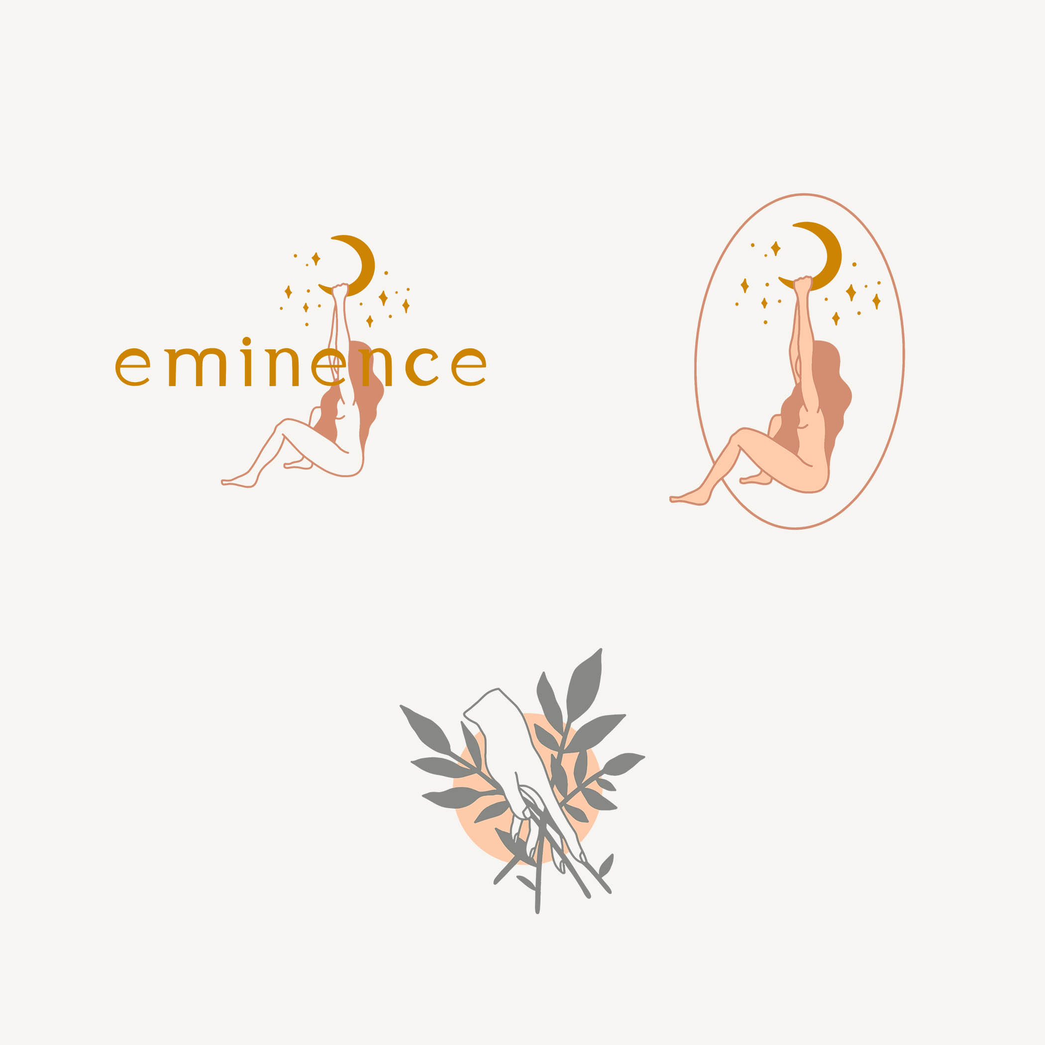 feminine logo. serif lowercase font logo