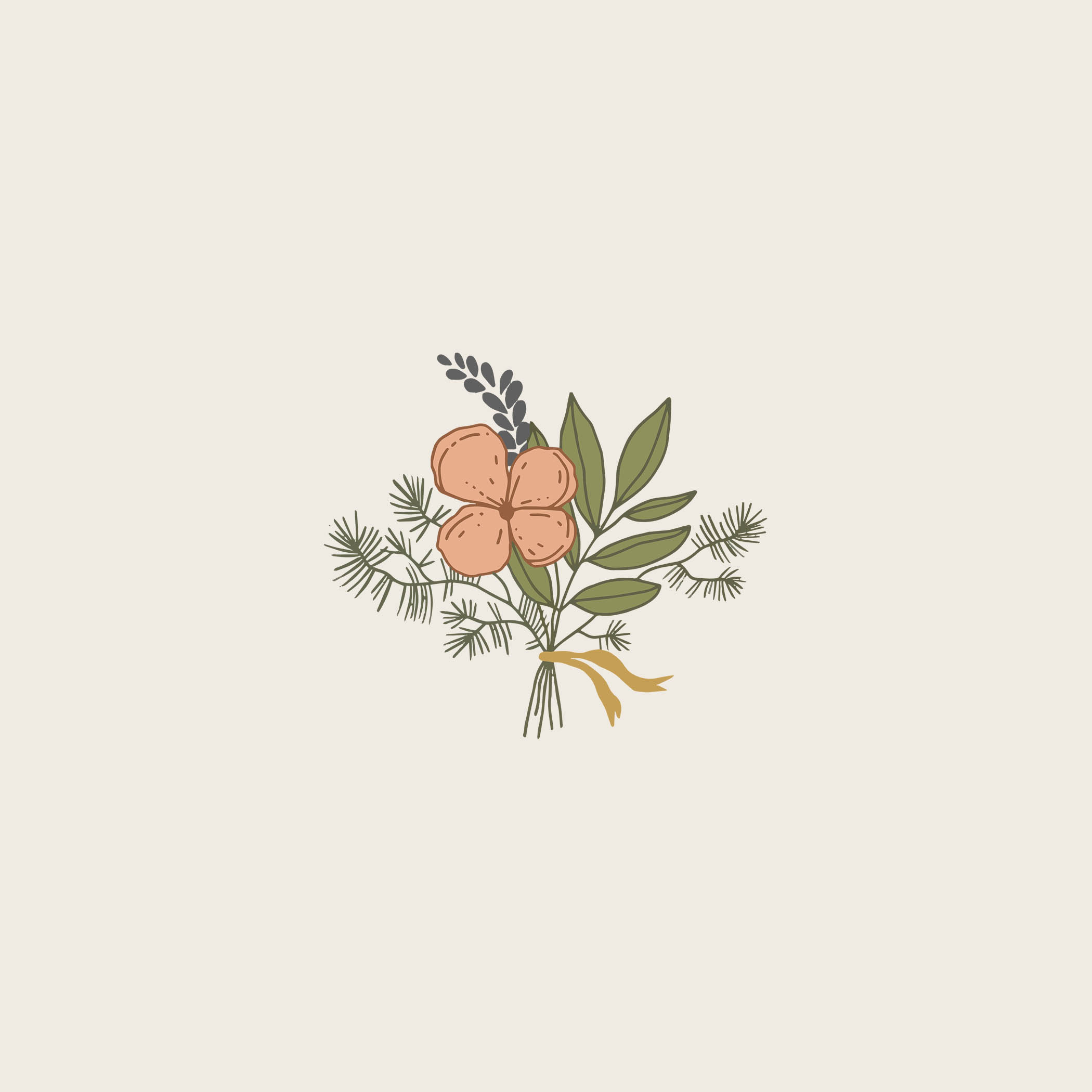 floral icon. florist logo. bouquet logo
