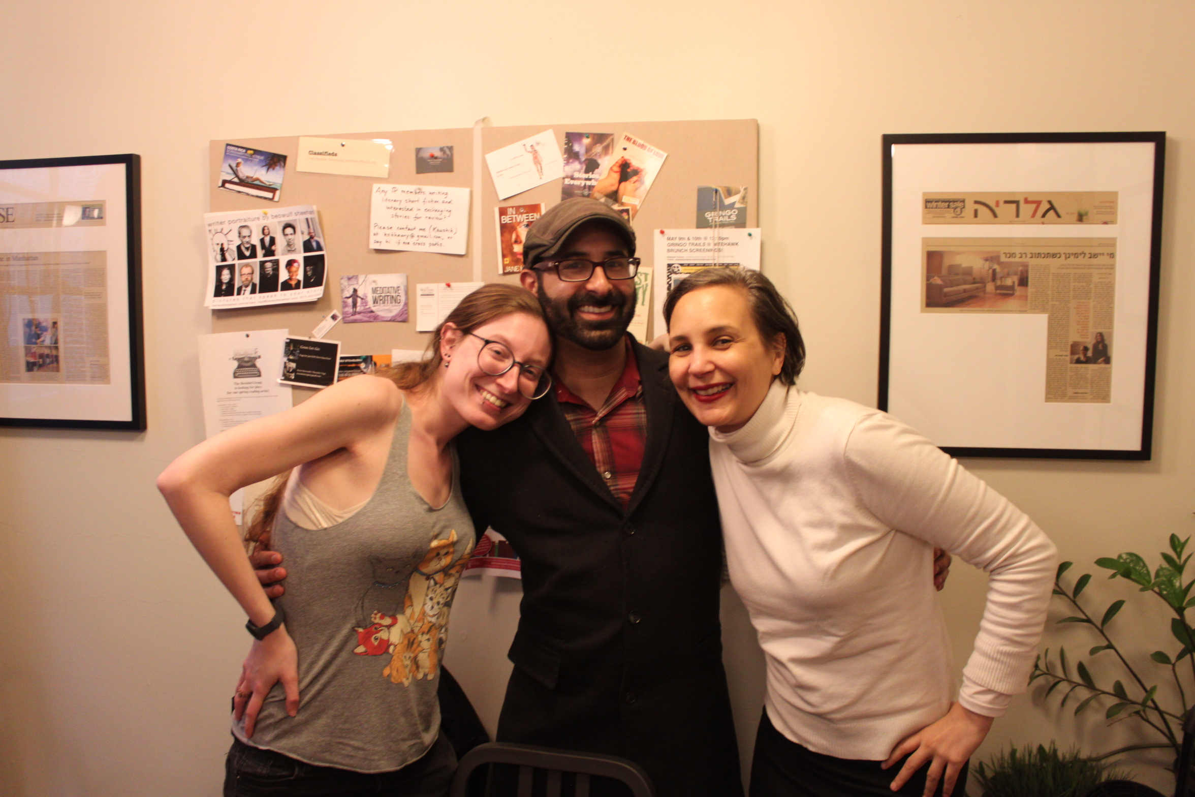 R to L: Ilana Masad, Eric Smith, & resident photograph Kirsten Major