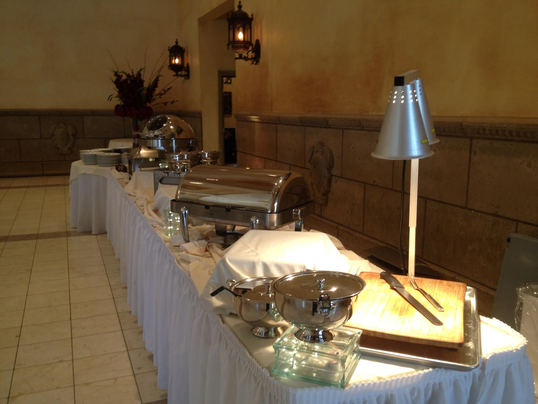 Multiple station buffet at The Castle in Chandler