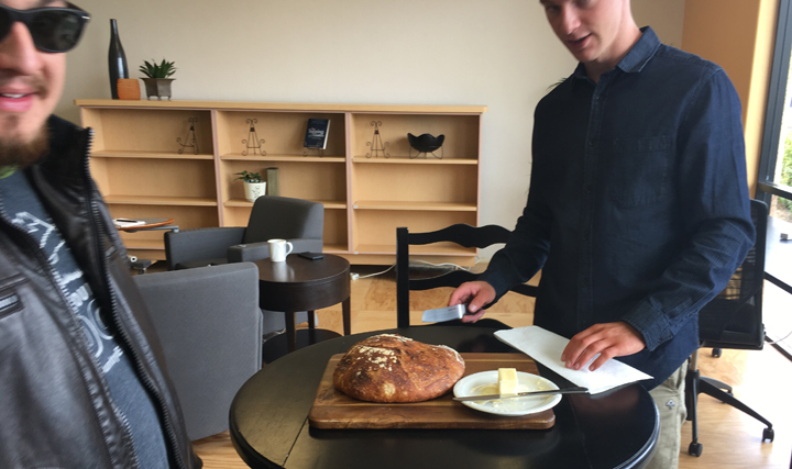 "Dakota brought in a loaf of his homemade bread for what is now affectionately called ""Bread Day"" at WingSpace."