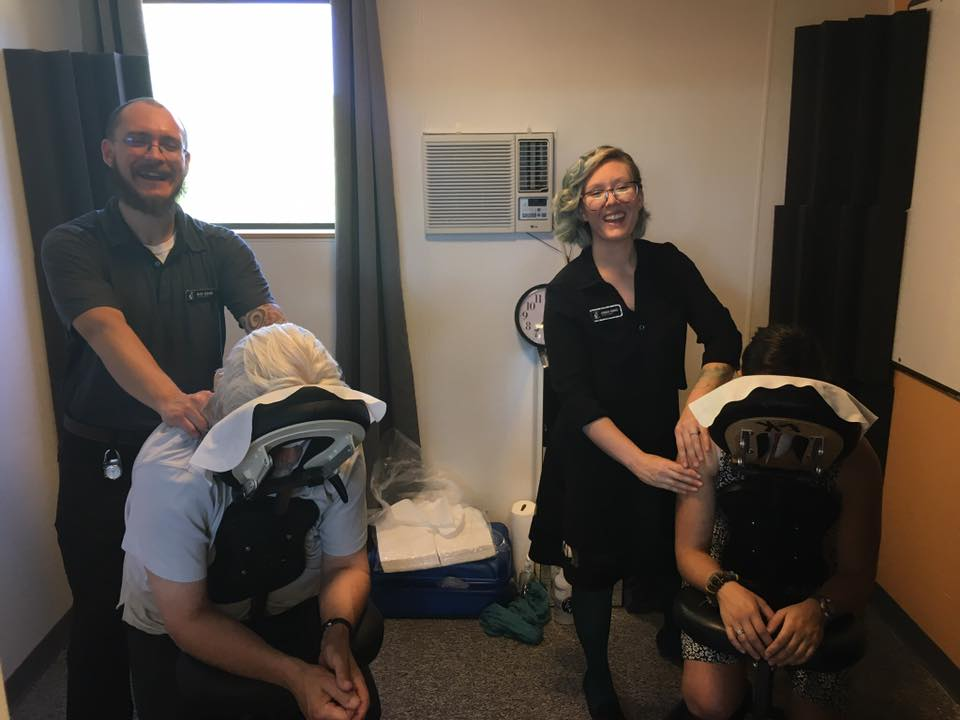 Chair Massages provided by Living Kinetics Mobile Bodyworks Service