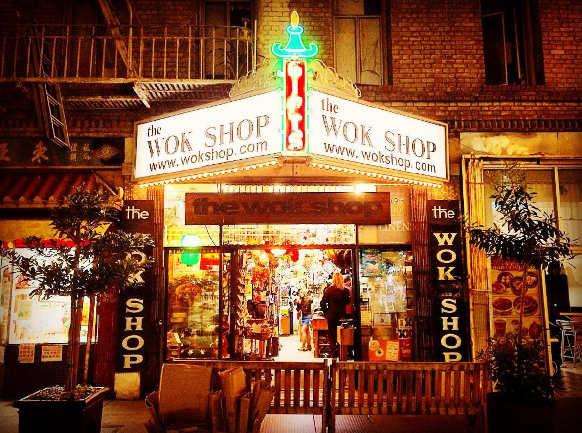 For Kitchen Supplies & Knives:    The Wok Shop    718 Grant Avenue (between Sacramento & Clay Street) San Francisco, CA 94108-2114