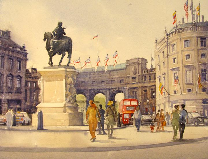 The Queens' Birthday, Trafalgar Sq.