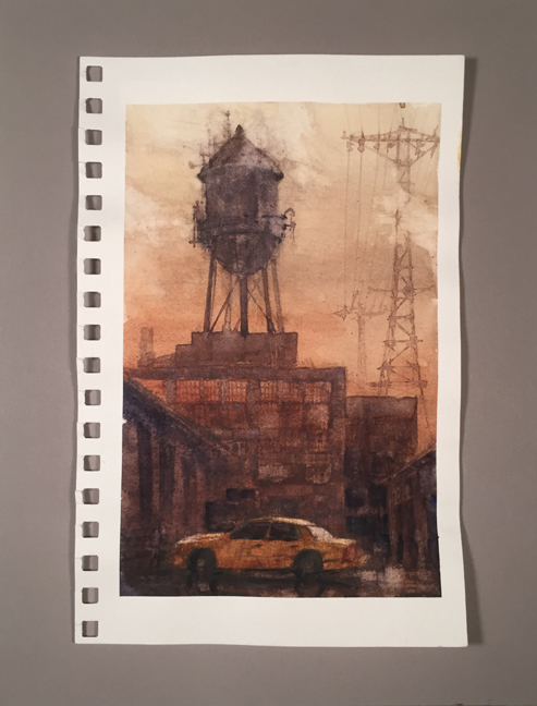 Water Tower Study 1