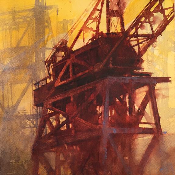 Square Series 6  Harbor Crane