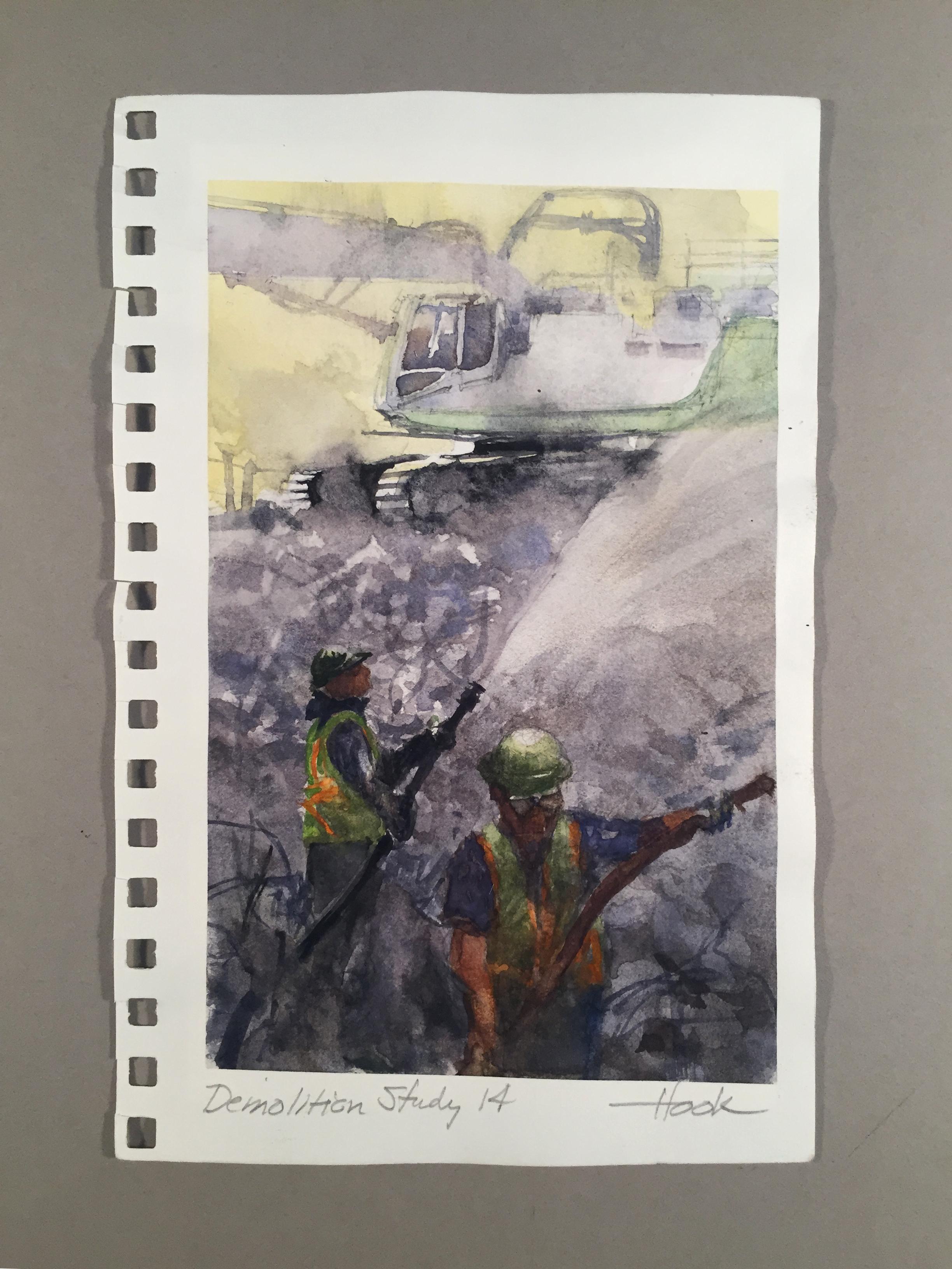 "Demolition Series Study 14 ""Dust Control"""