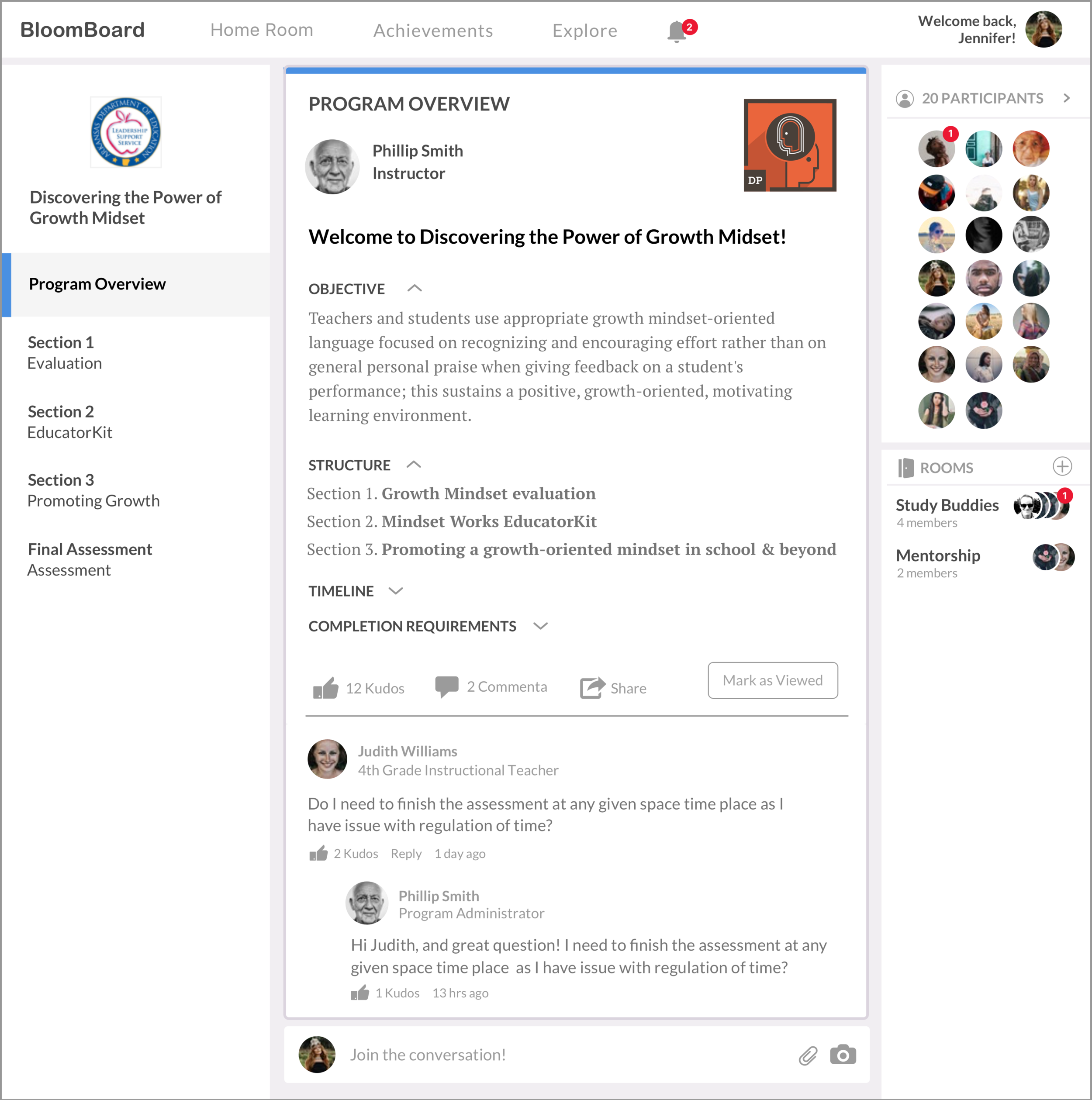 Program Overview redesign